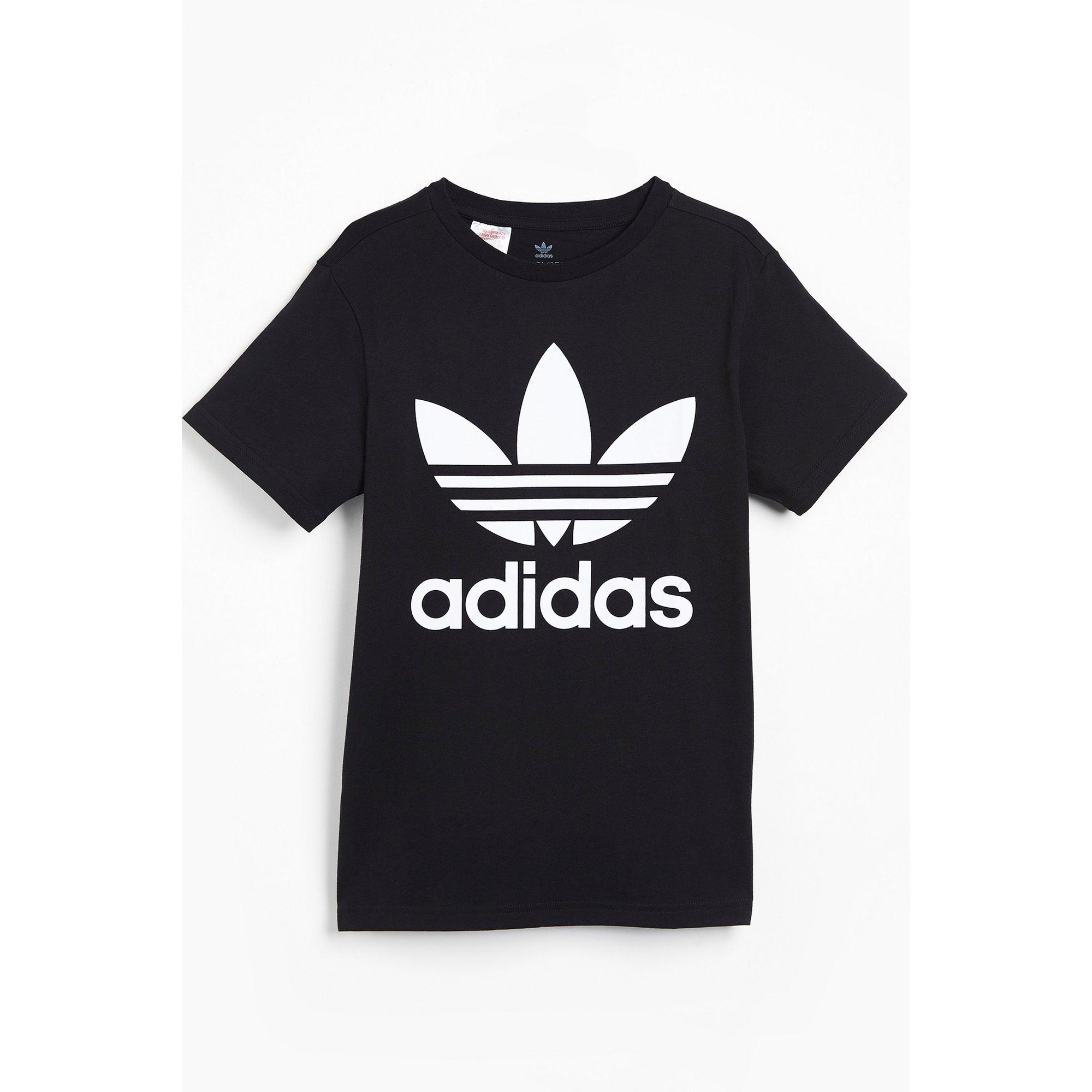 Image of Boys adidas Originals Trefoil Black T-Shirt