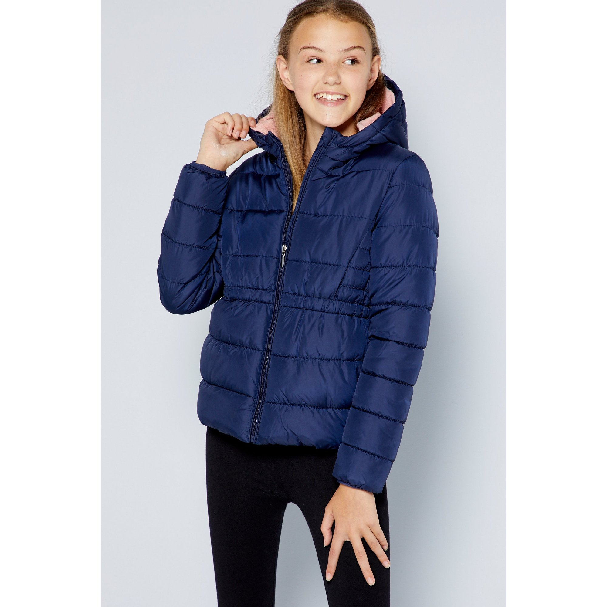 Image of Older Girls School Micro Fleece Lined Padded Jacket