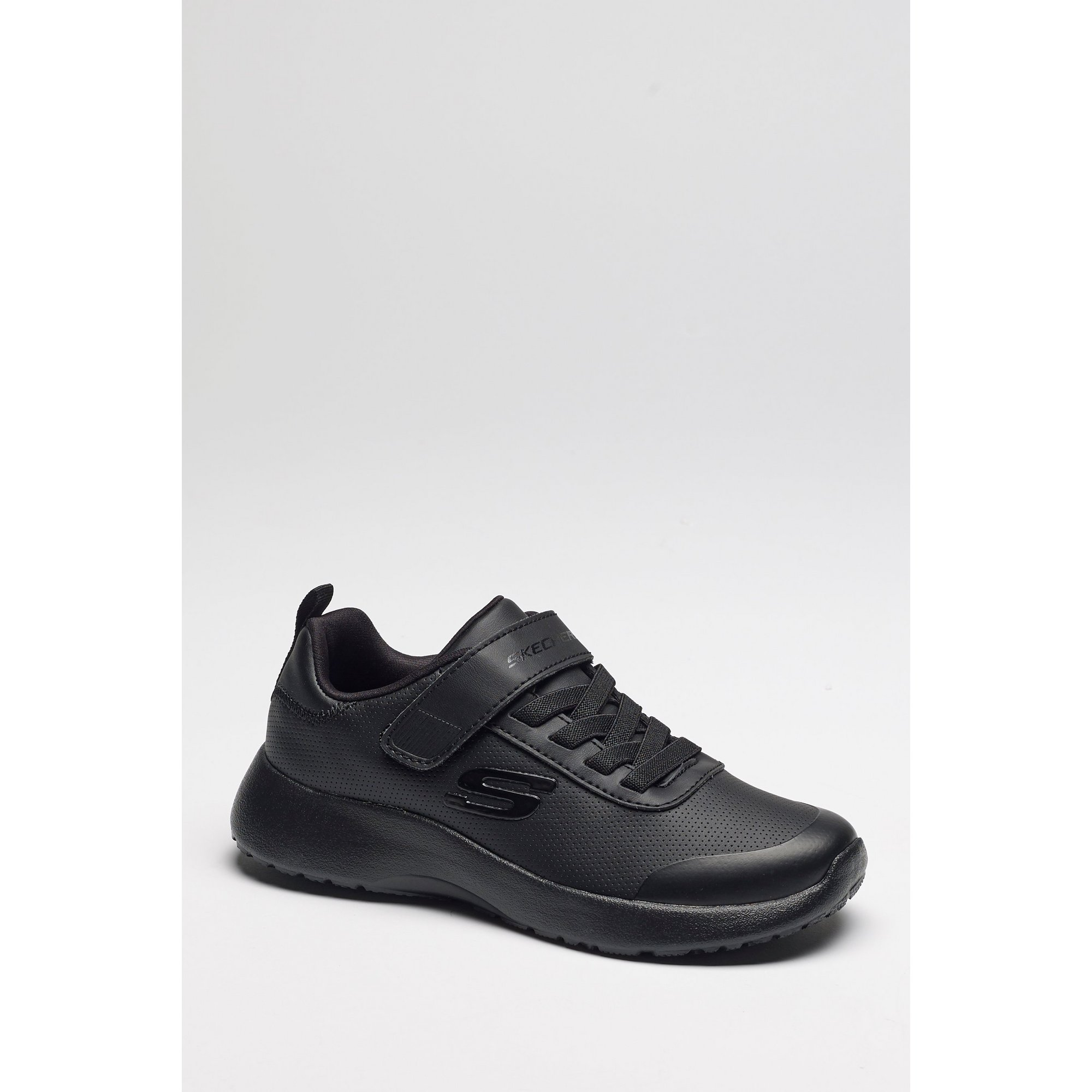 Image of Kids Skechers Casual Gore and Strap Trainers