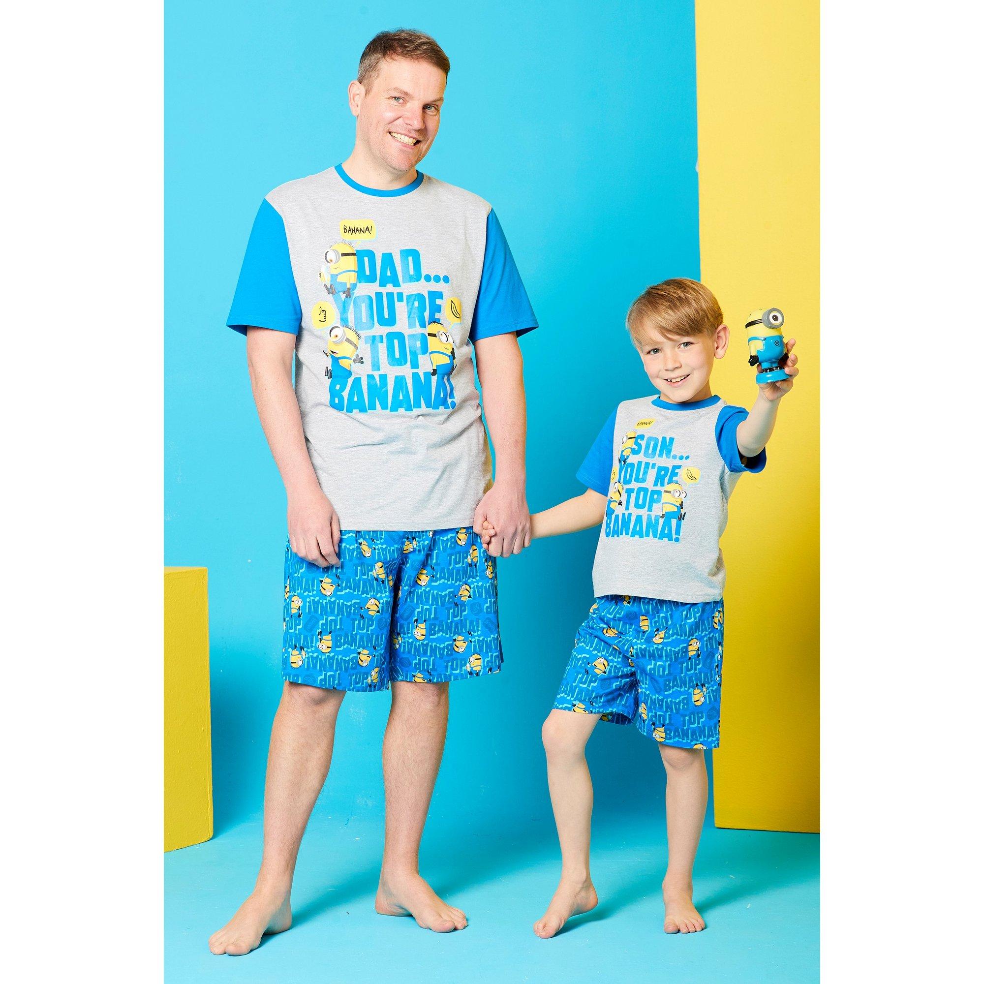 Image of Boys Despicable Me Top Banana Mini Me Pyjamas