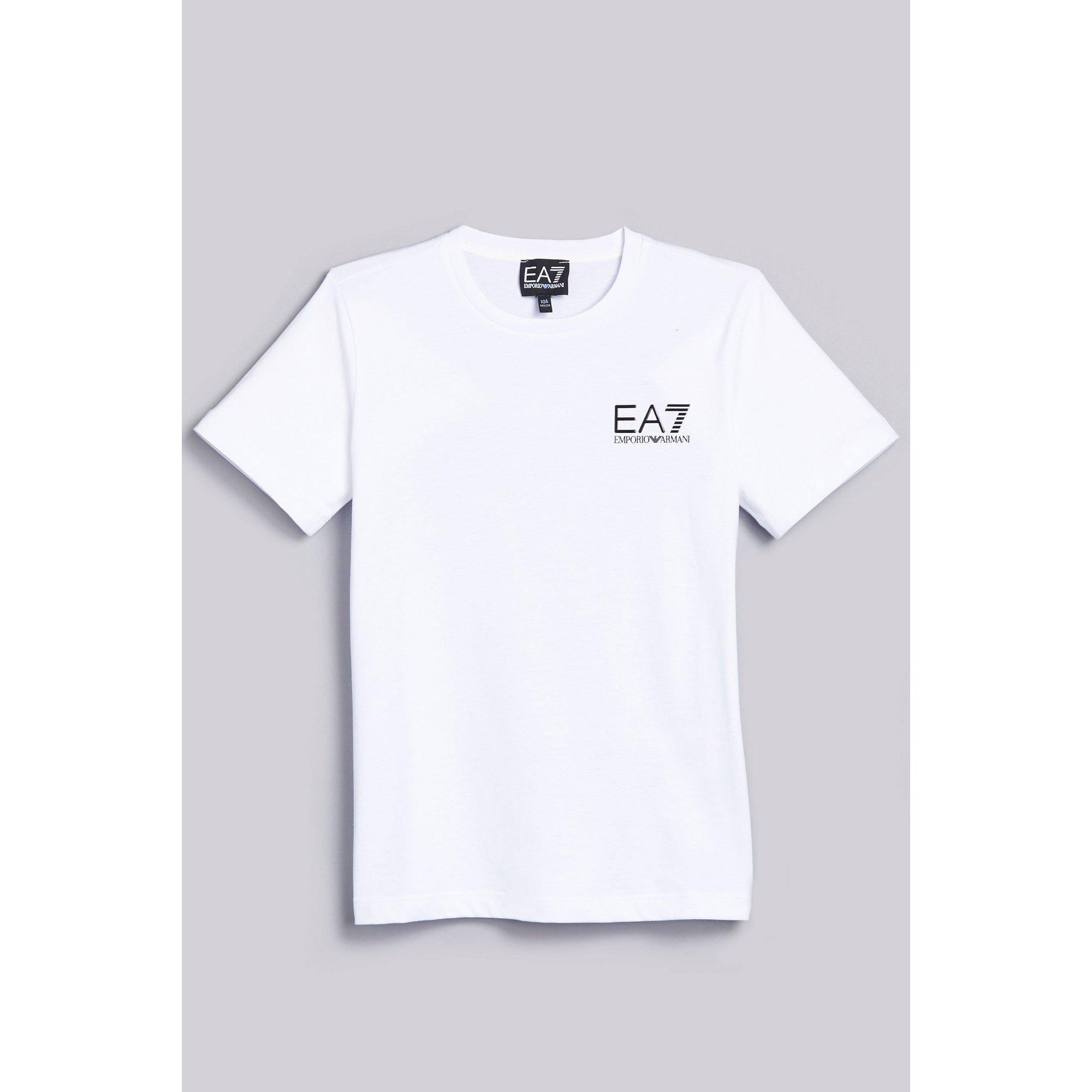Image of Boys EA7 Train Core ID White T-Shirt