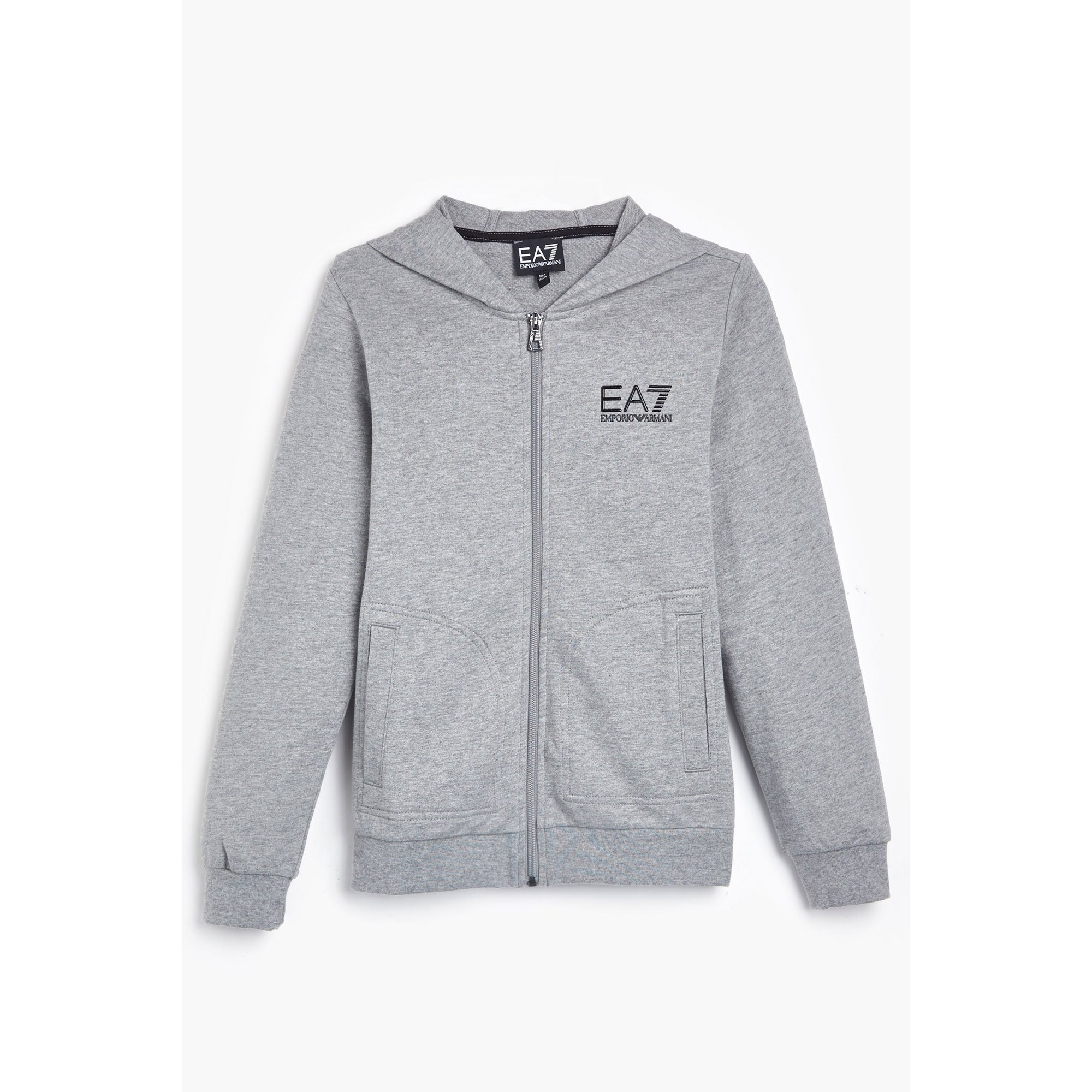Image of Boys EA7 Train Core ID Grey Zip Through Hoody