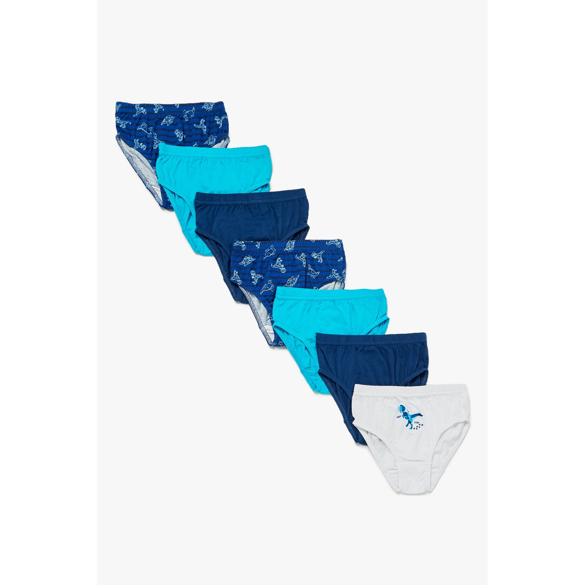 Image of Boys Pack of 7 Dino Briefs