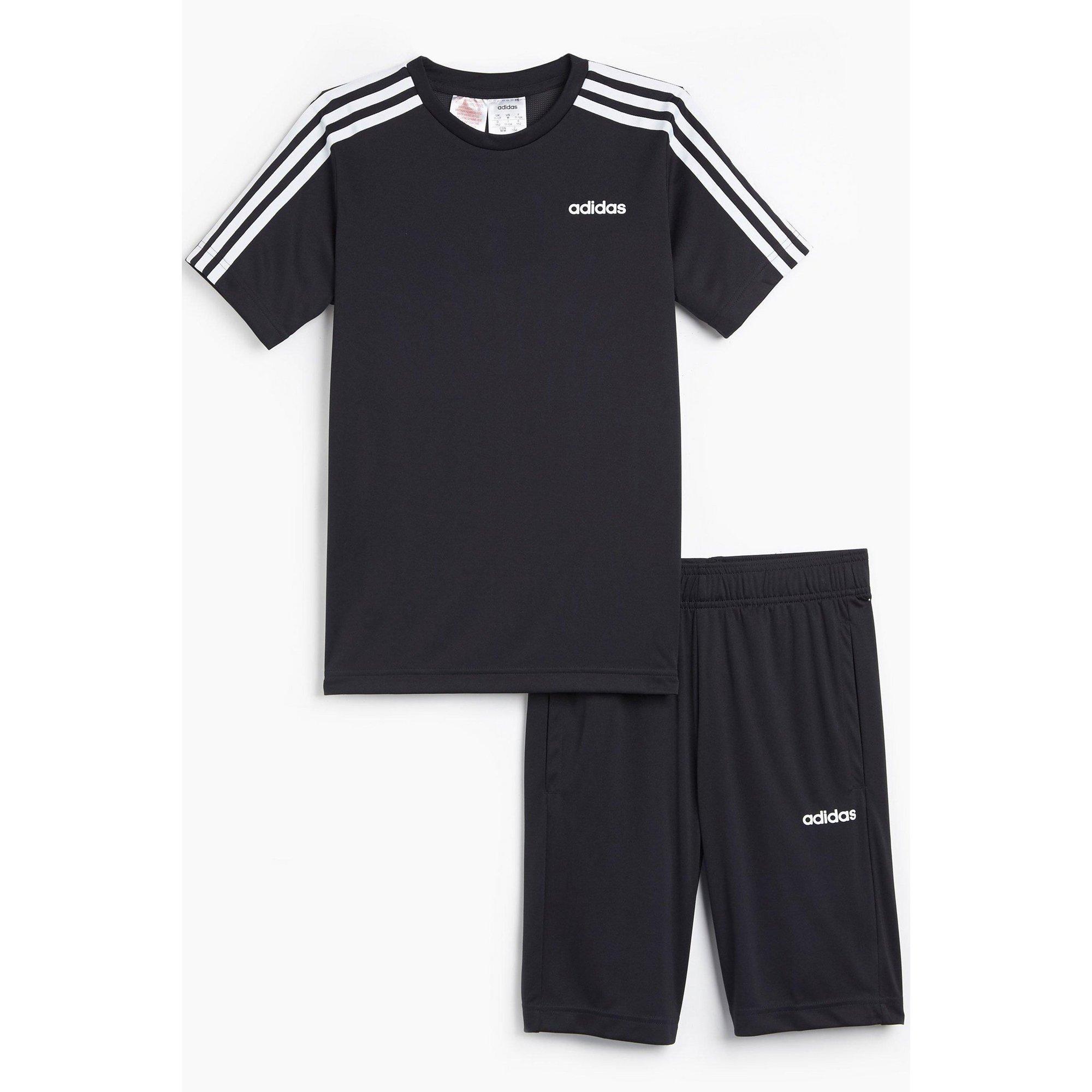 Image of Boys adidas 3 Stripes Training Set