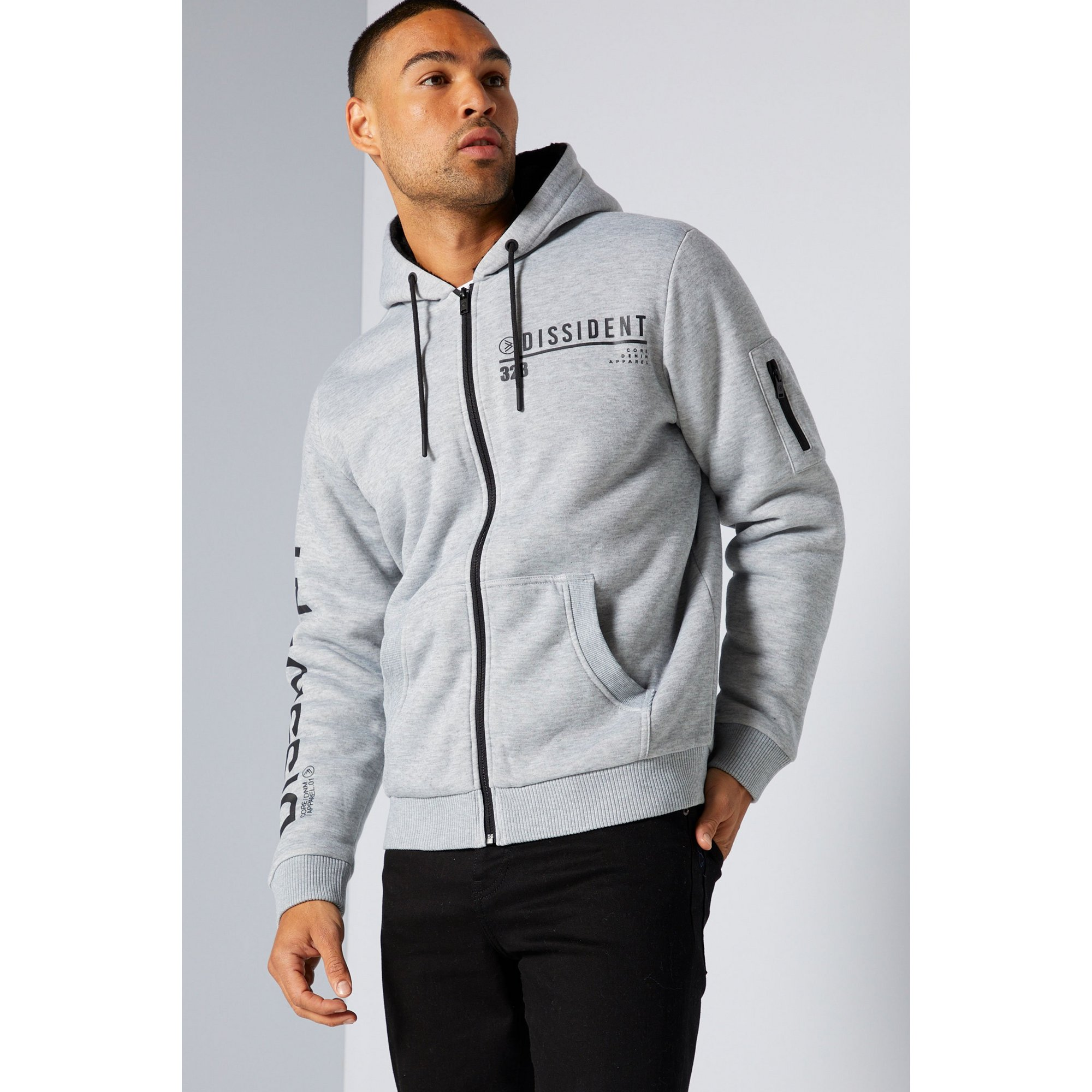 Image of Dissident Borg Lined Zip Through Hoody