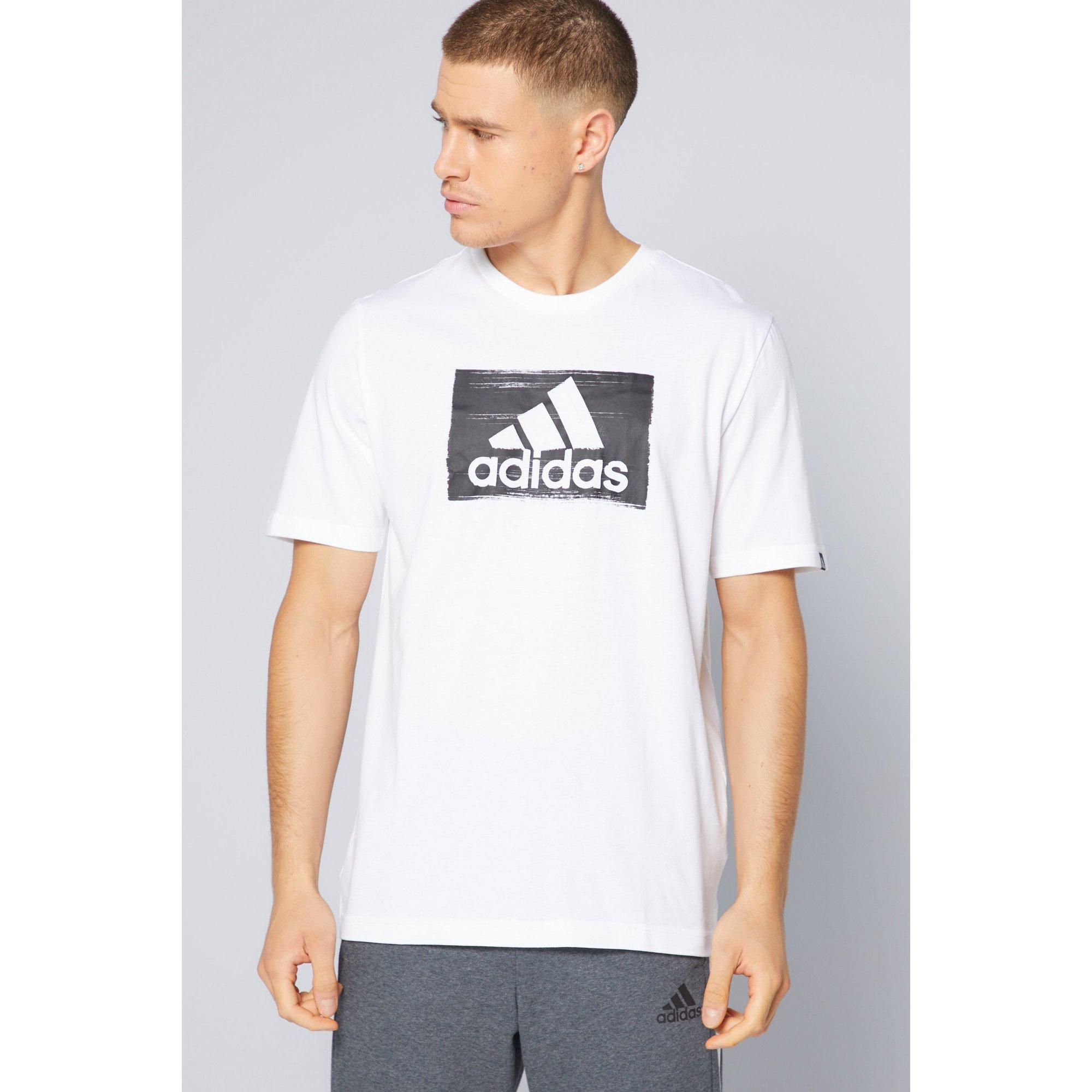 Image of adidas Brushstroke White T-Shirt