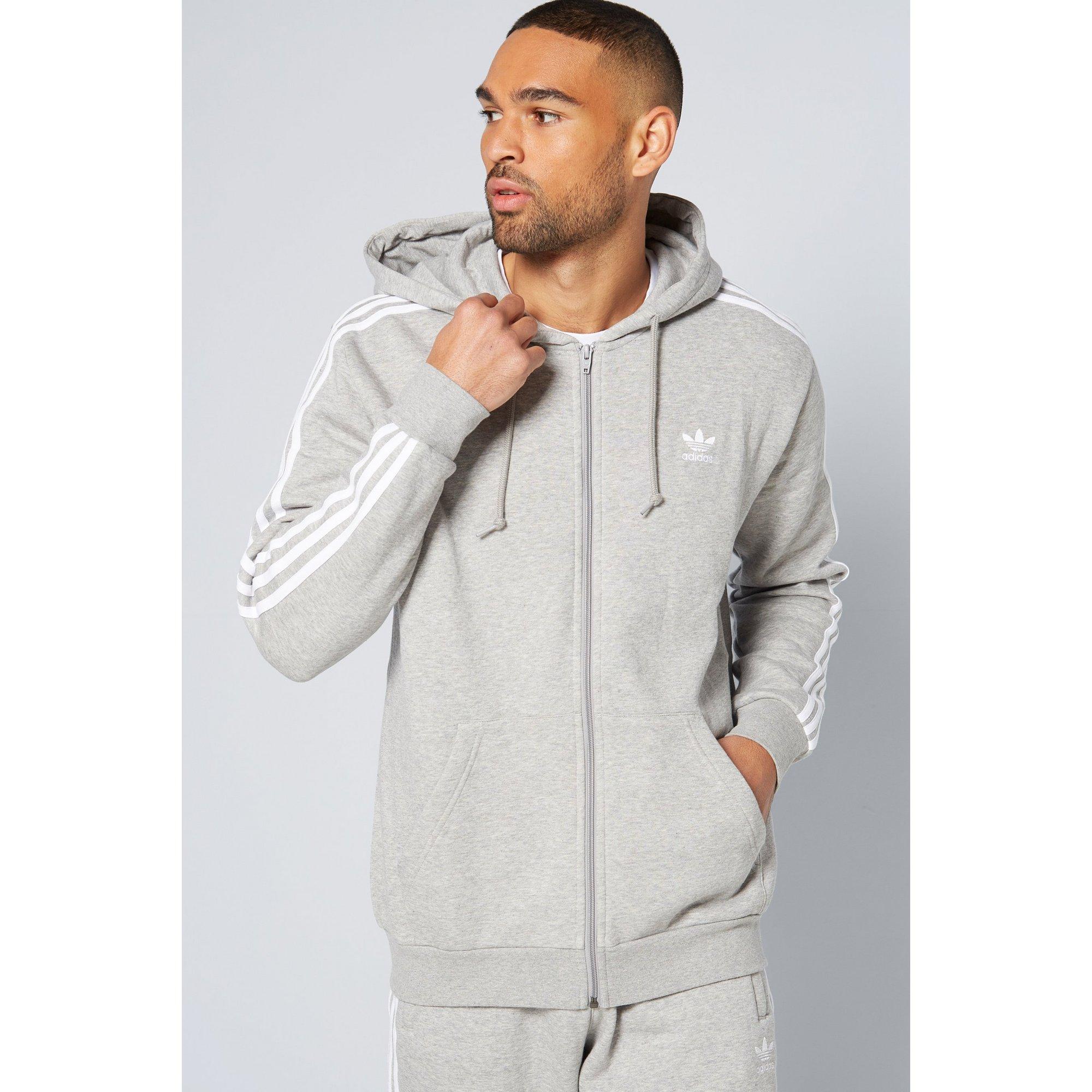 Image of adidas Originals 3 Stripe Zip Through Hoody