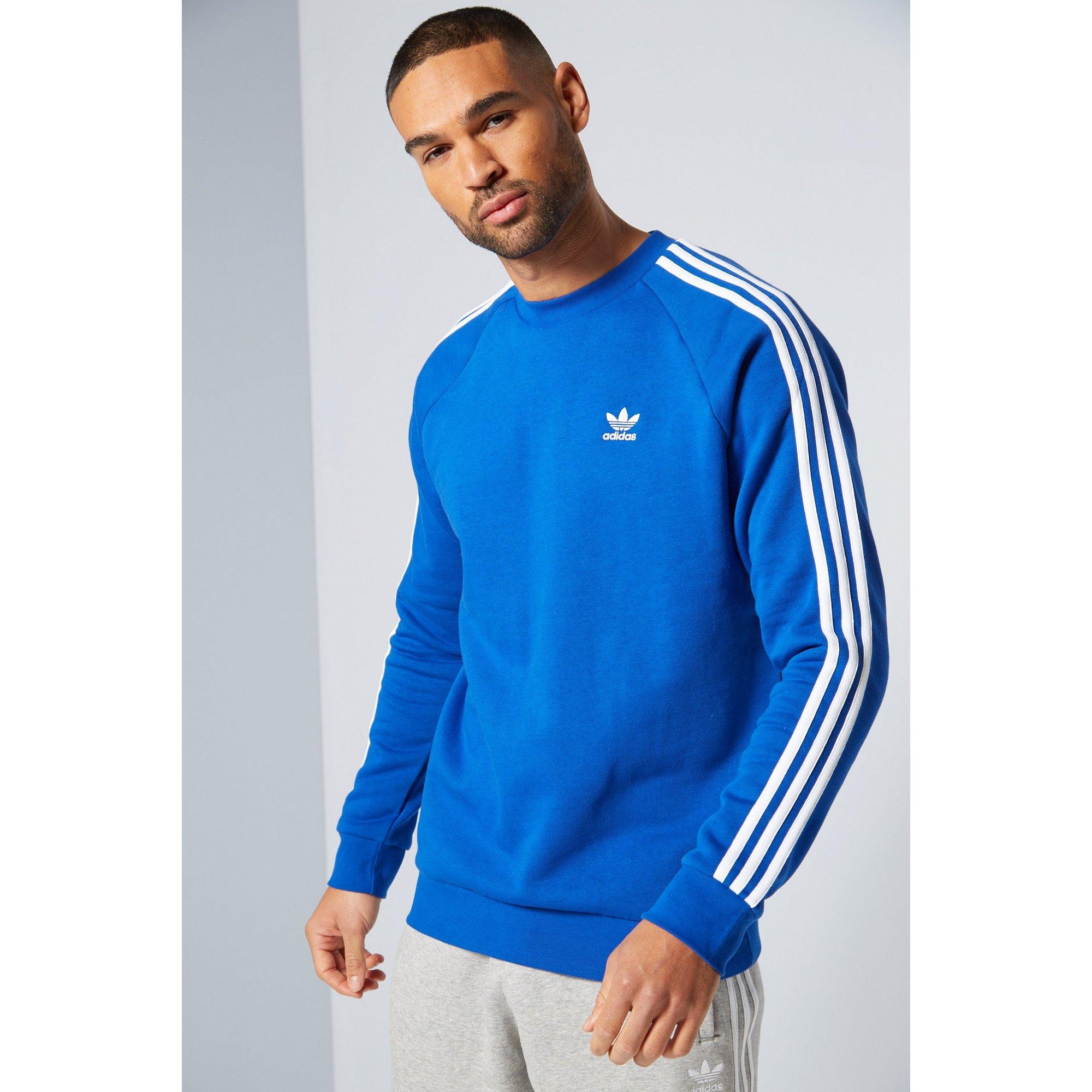 Image of adidas Originals 3 Stripe Crew Sweatshirt