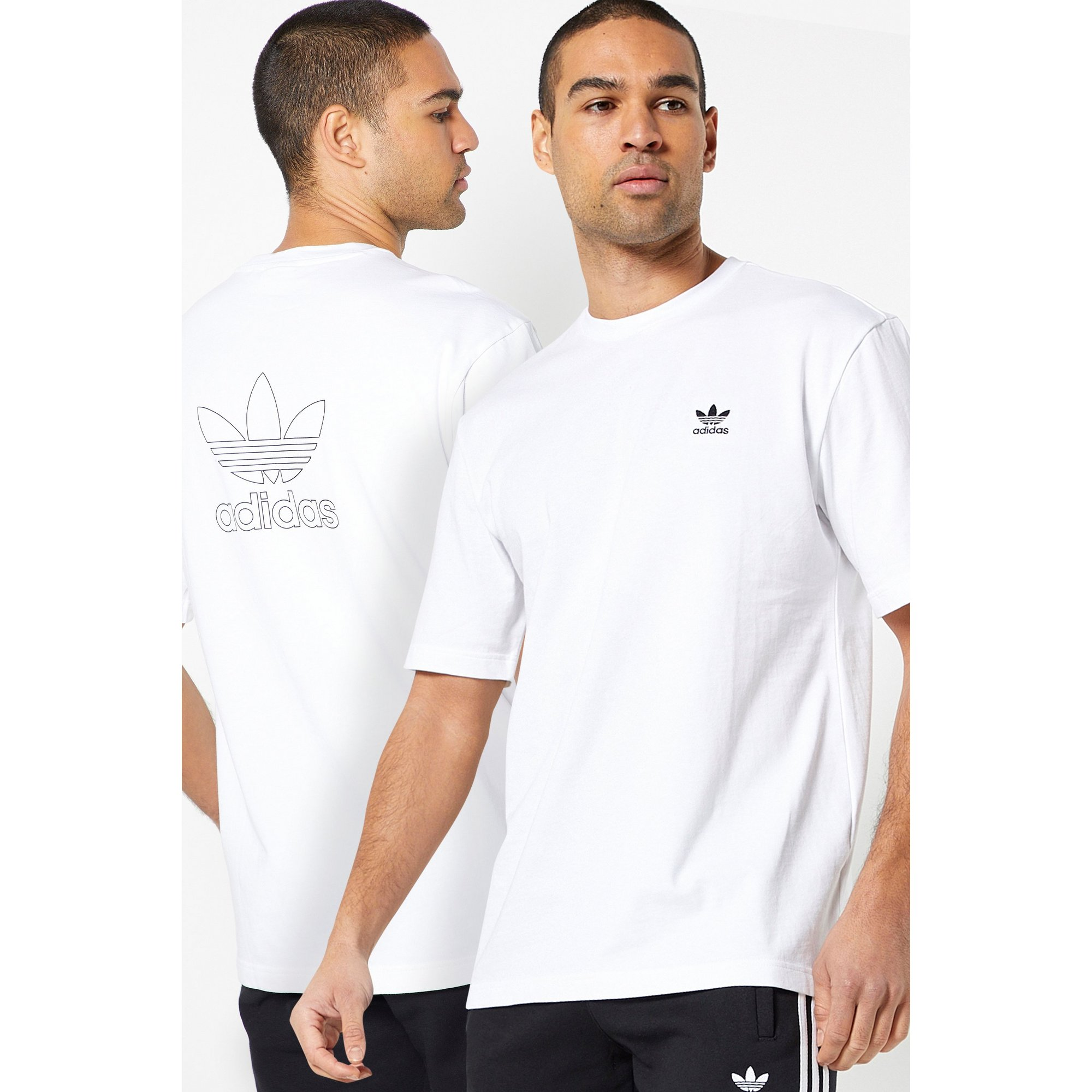 Image of adidas Originals Back and Front White T-Shirt