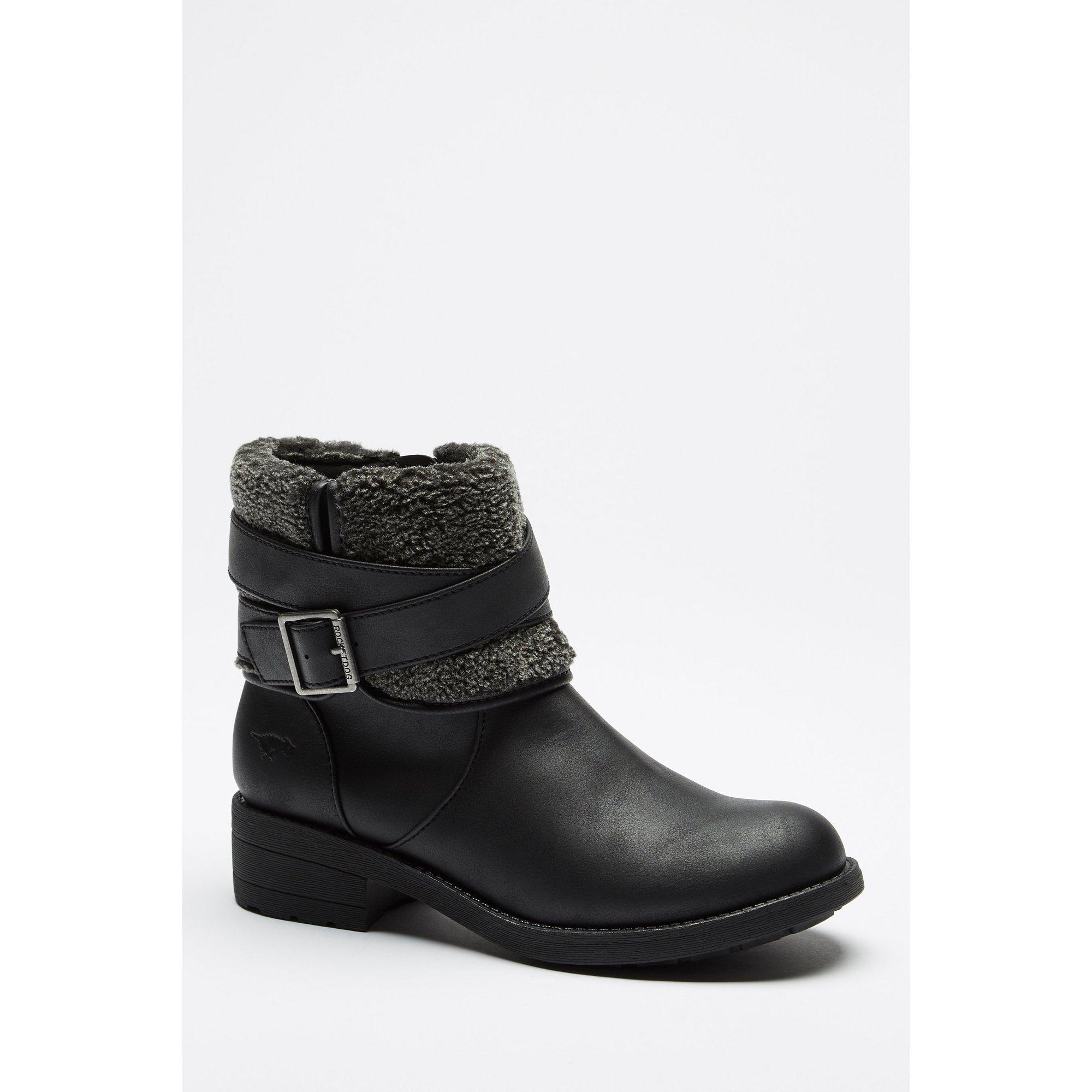 Rocket Dog Trepp Knitted Black Ankle Boots