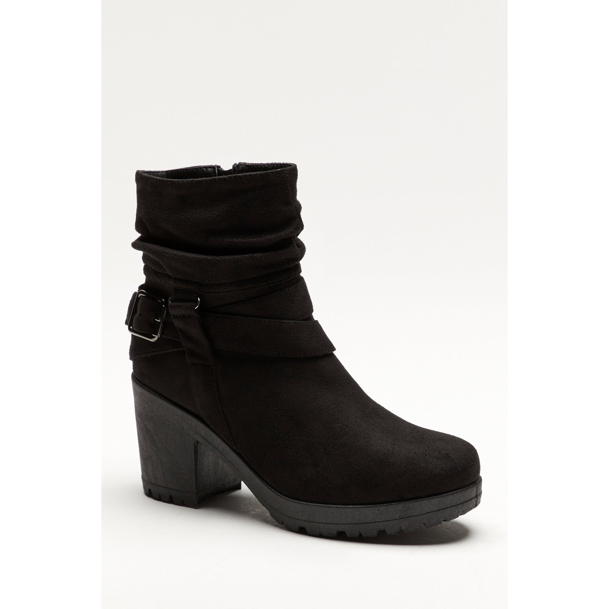 Image of Chunky Heel Slouch Boots