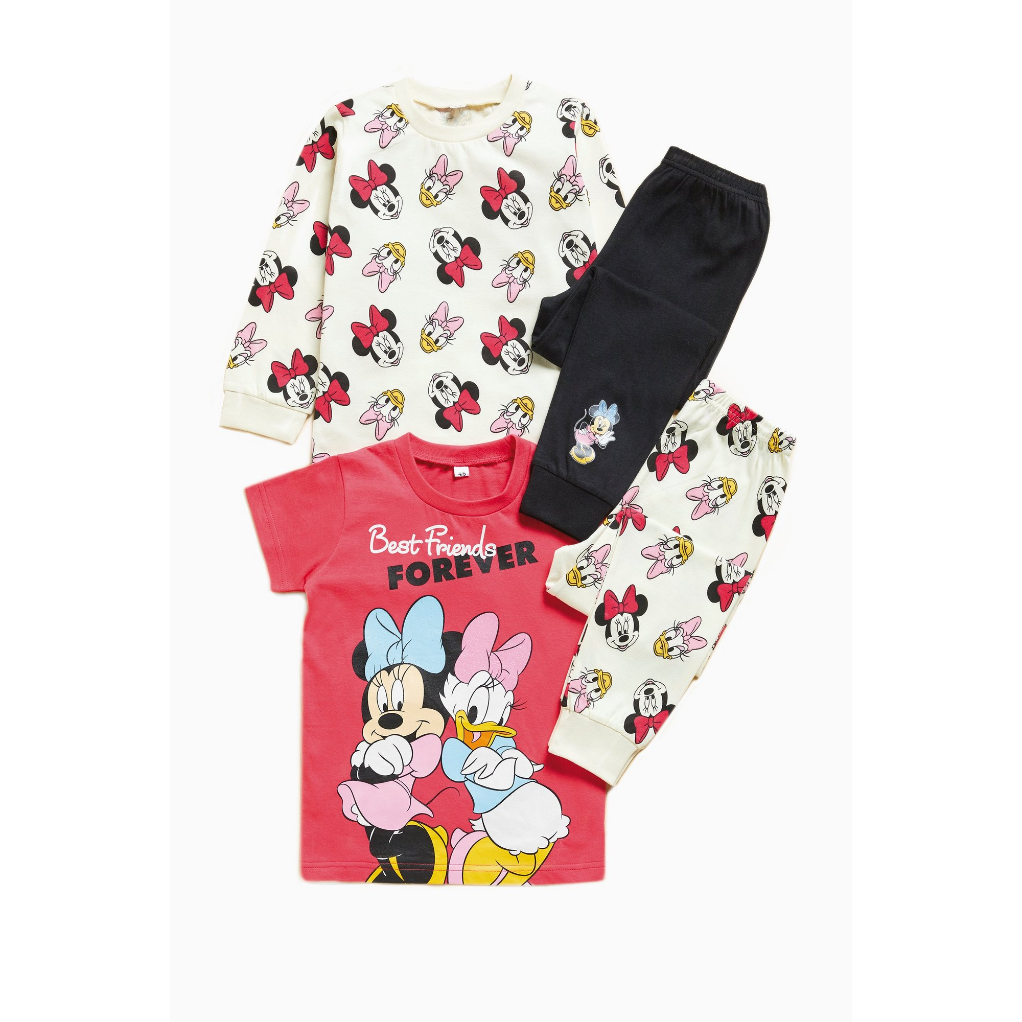 Image of Girls Pack of 2 Minnie Mouse Pyjamas