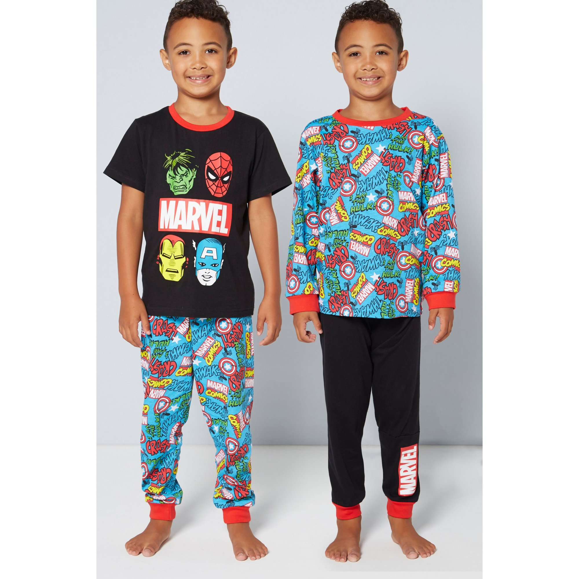 Image of Boys Pack of 2 Marvel Pyjamas