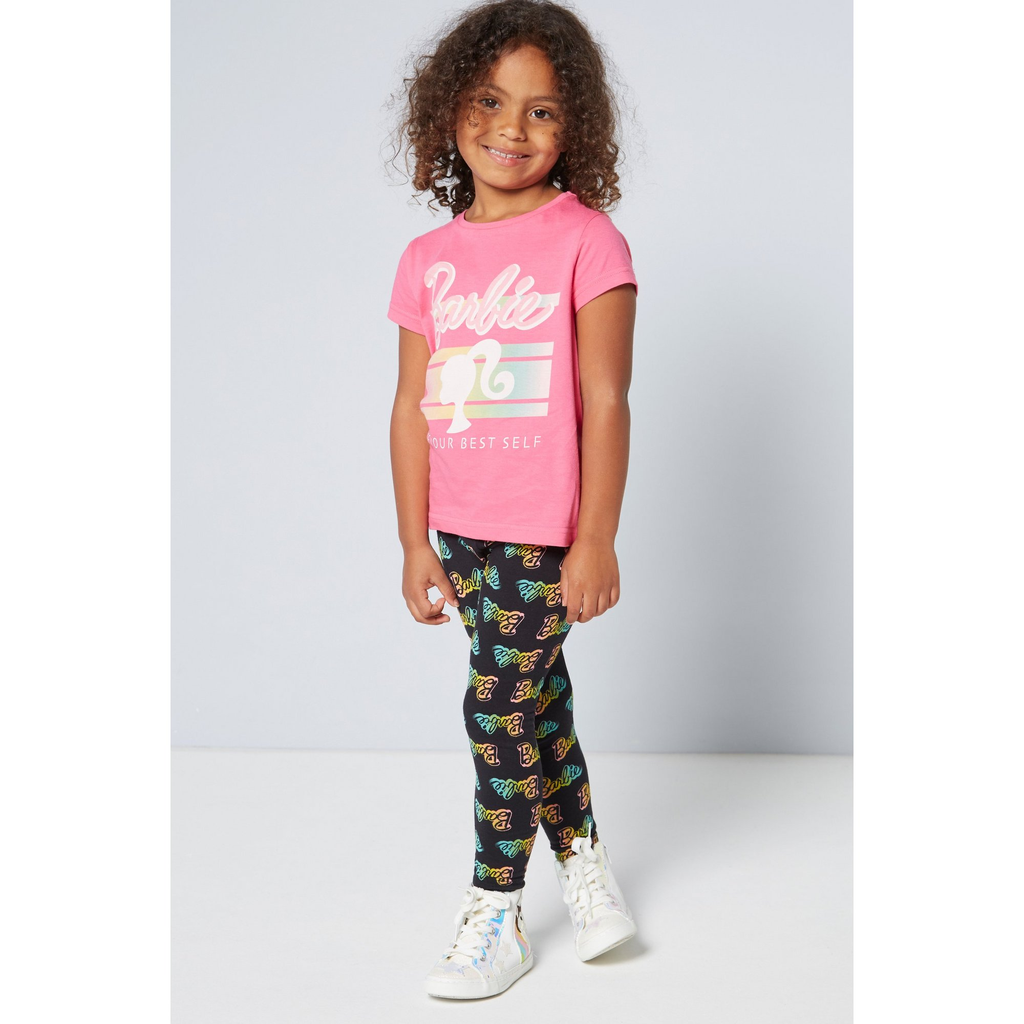 Image of Girls Barbie T-Shirt and Leggings Set