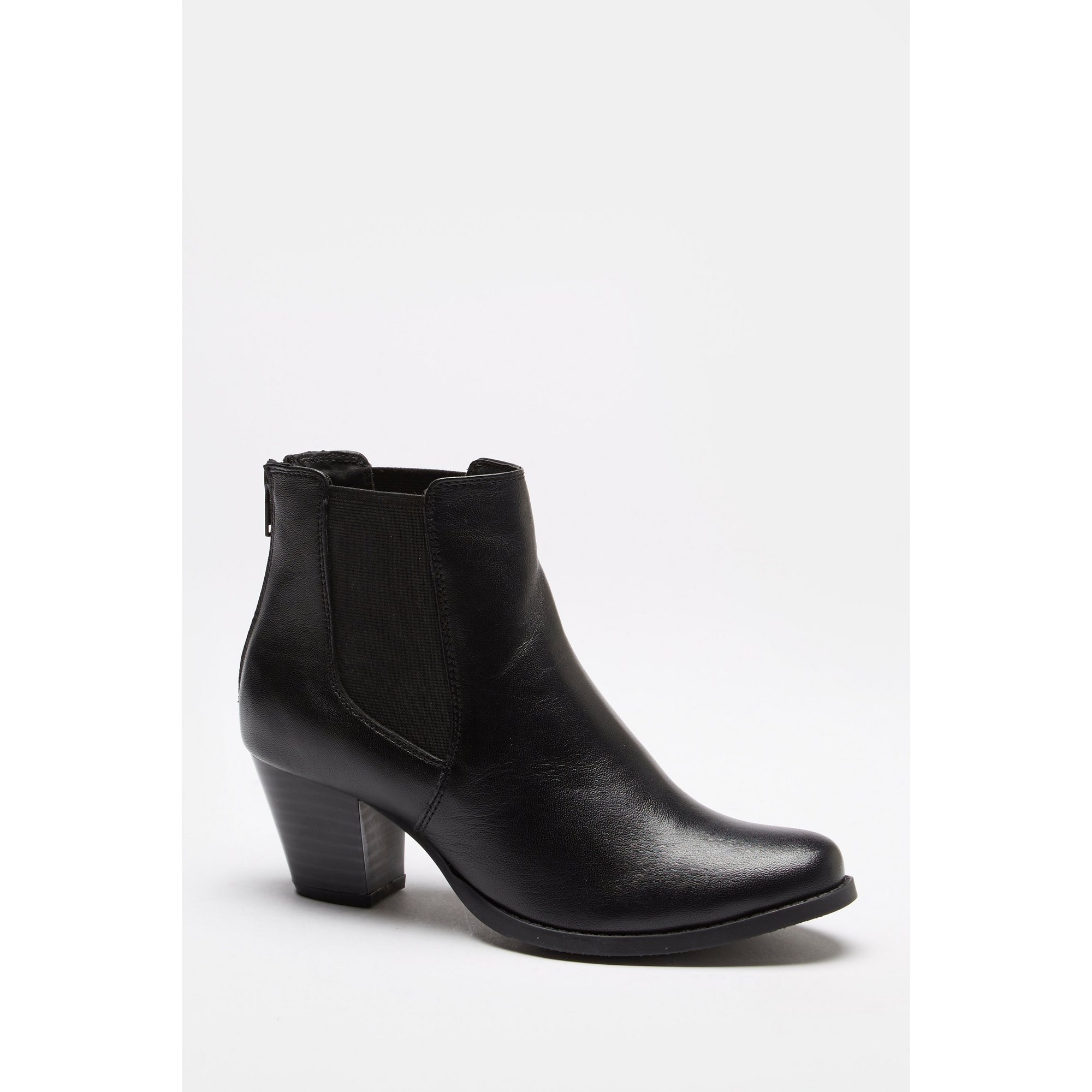 Image of Comfort Plus Twin Gusset Black Ankle Boots