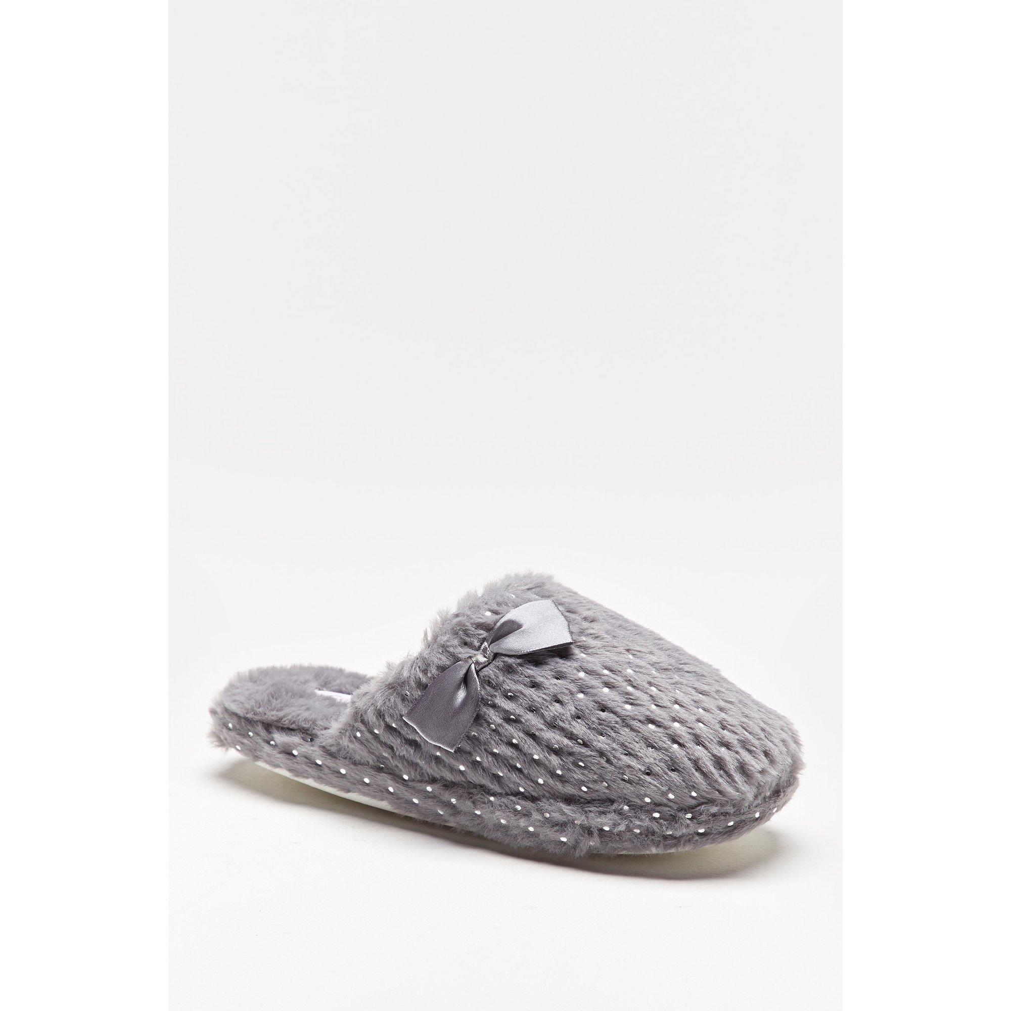 Image of Comfort Plus Foil Print Mule Slippers