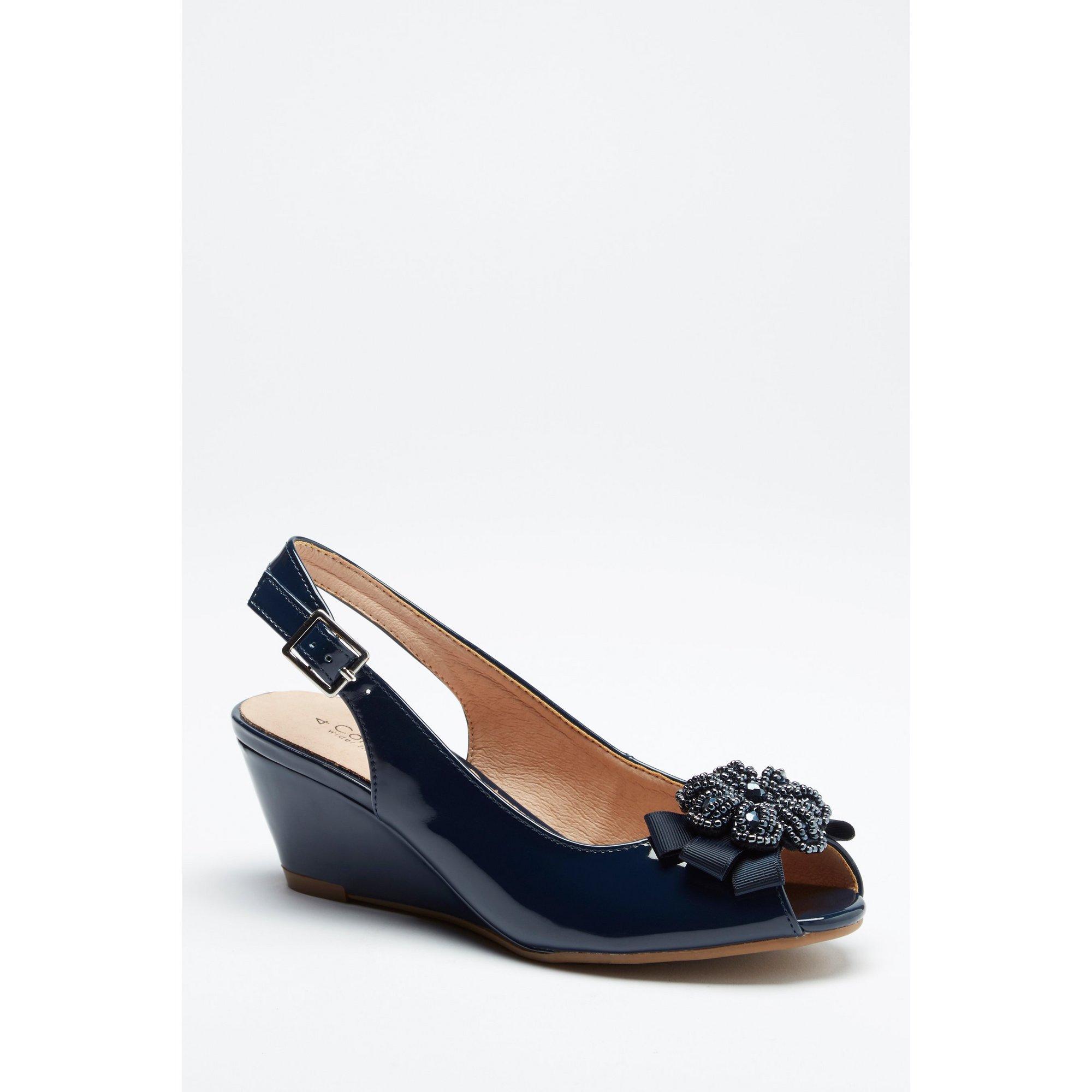 Image of Comfort Plus Navy Wedge Sandals