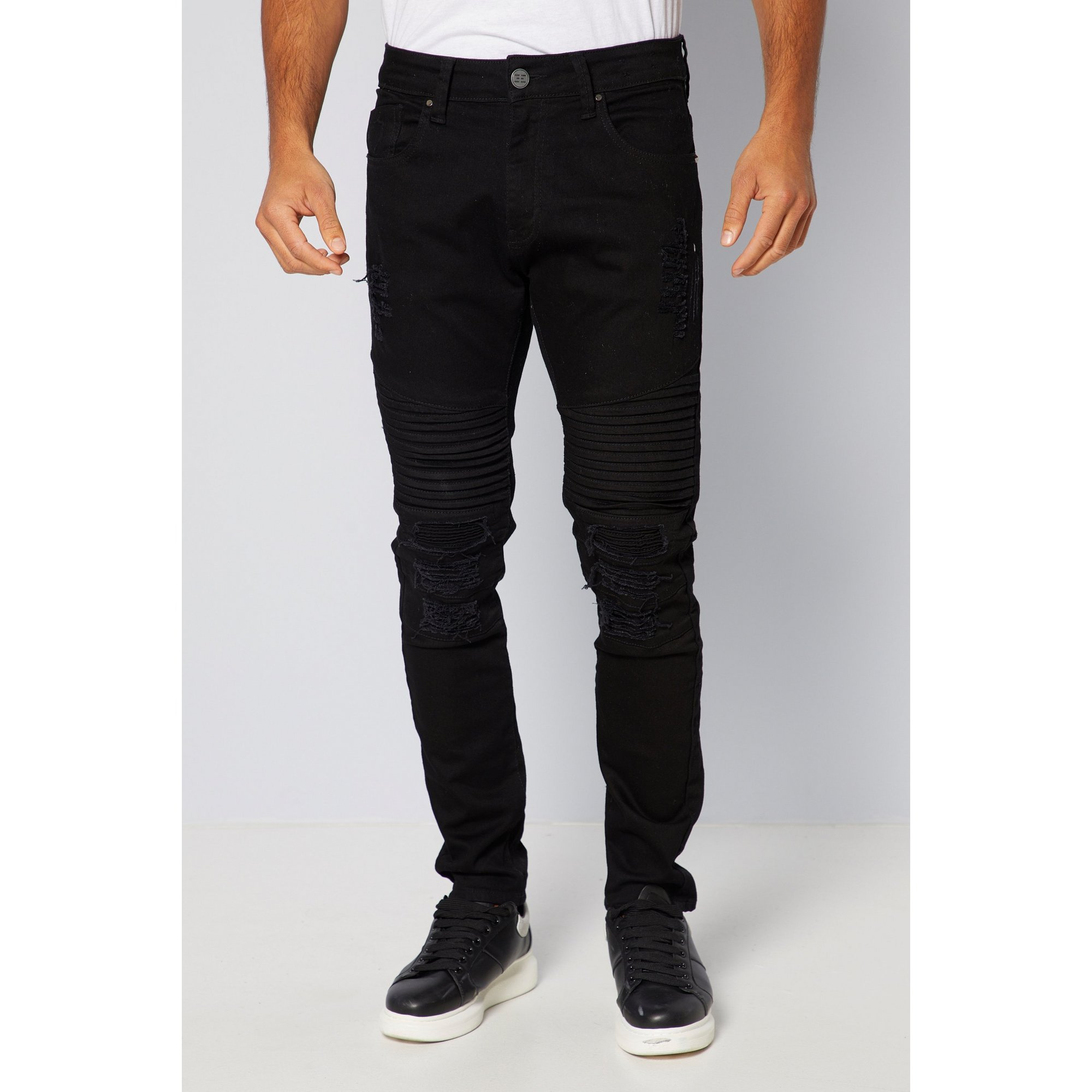 Image of 883 Police Ripped Straight Fit Jeans