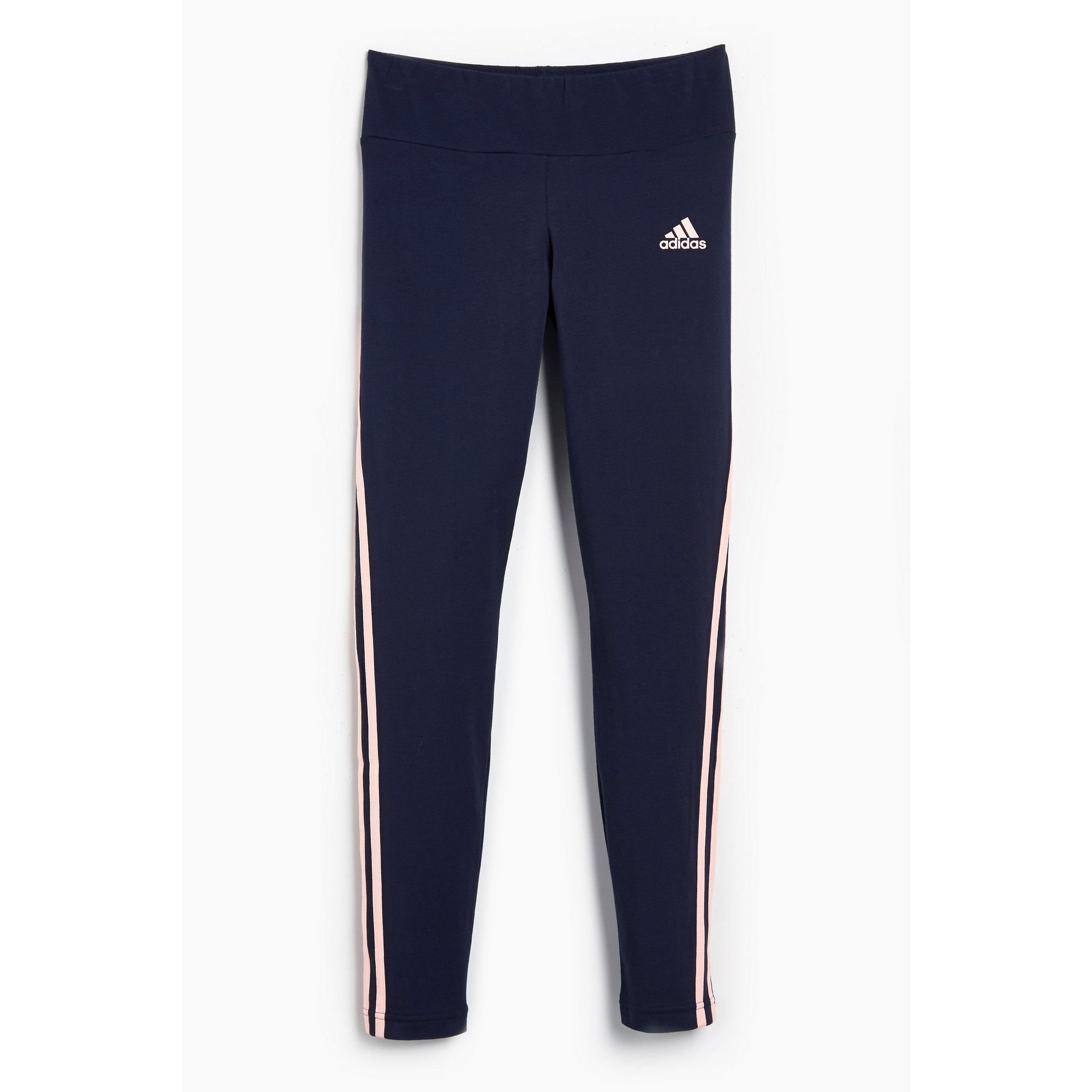 Image of Girls adidas Blue 3 Stripe Leggings