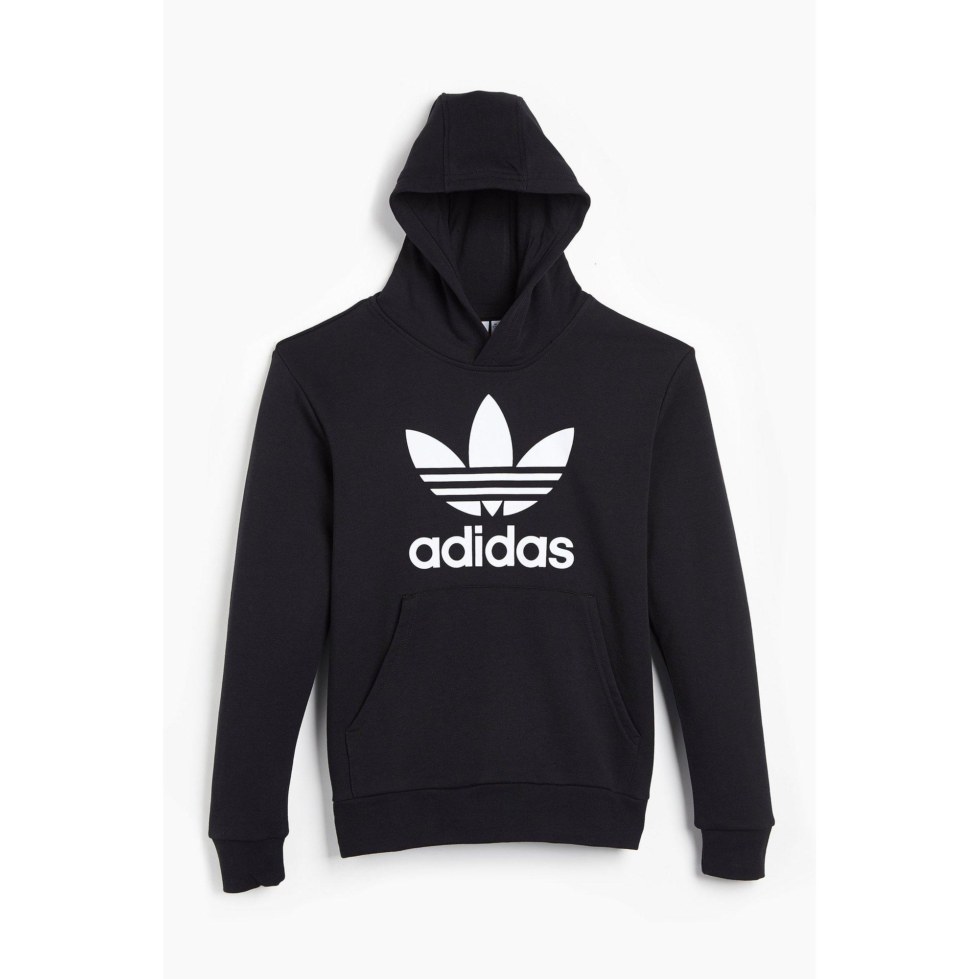 Image of Girls adidas Trefoil Black Hoody