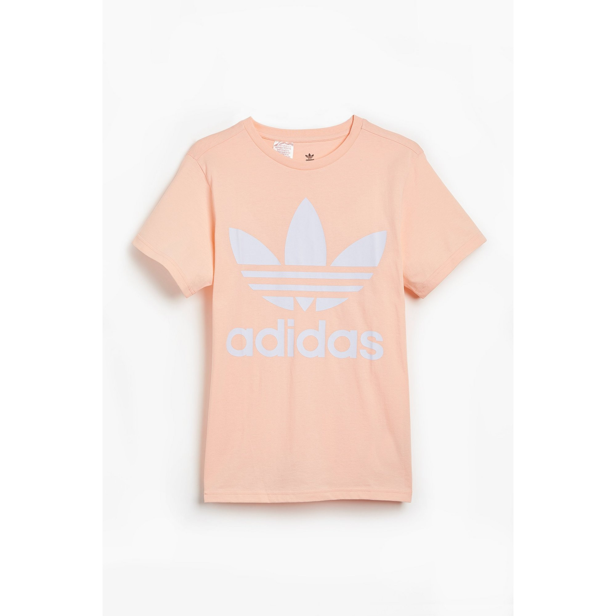 Image of Girls adidas Trefoil Haze Coral T-Shirt