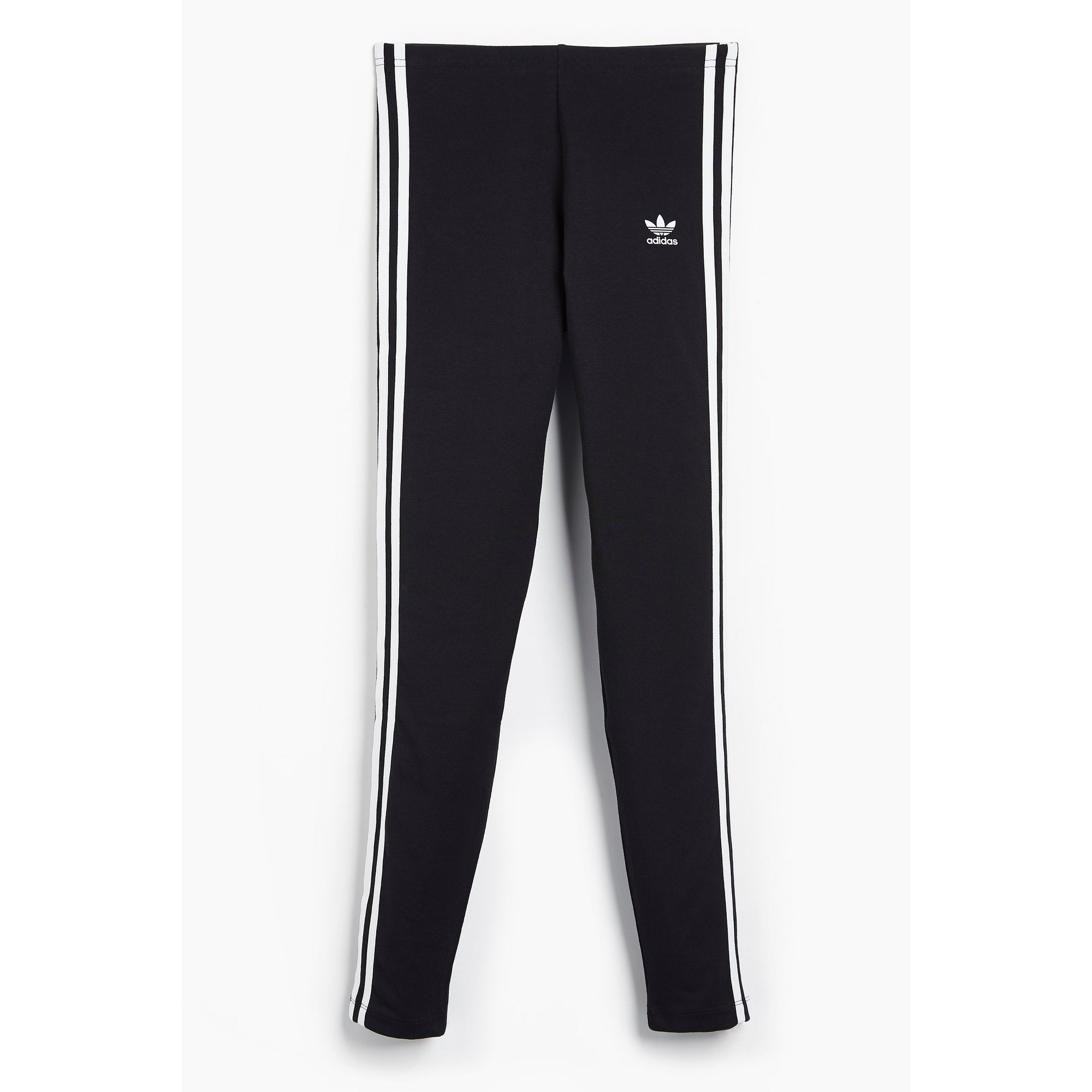 Image of Girls adidas 3-Stripes Black Leggings