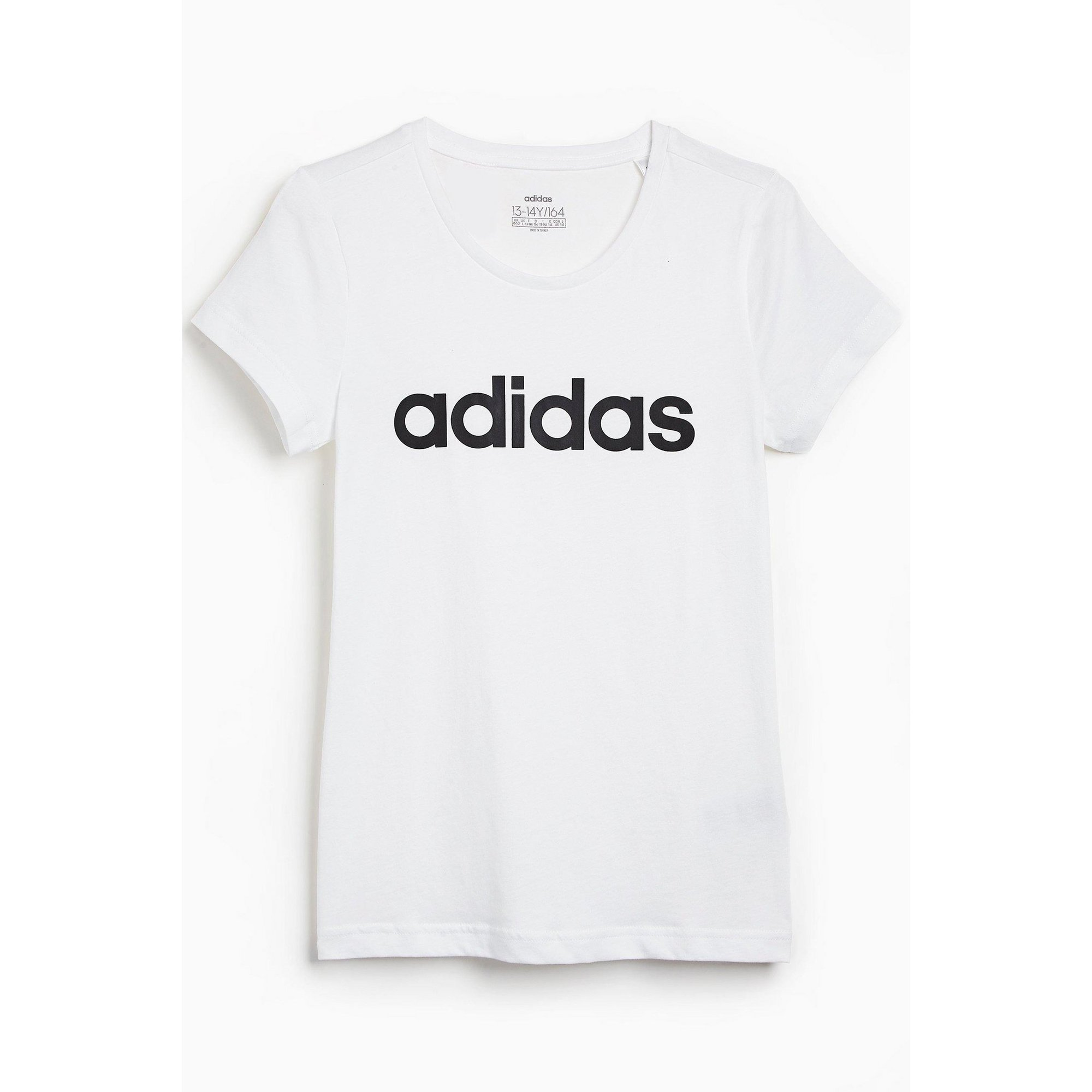 Image of Girls adidas Essentials Linear White T-Shirt