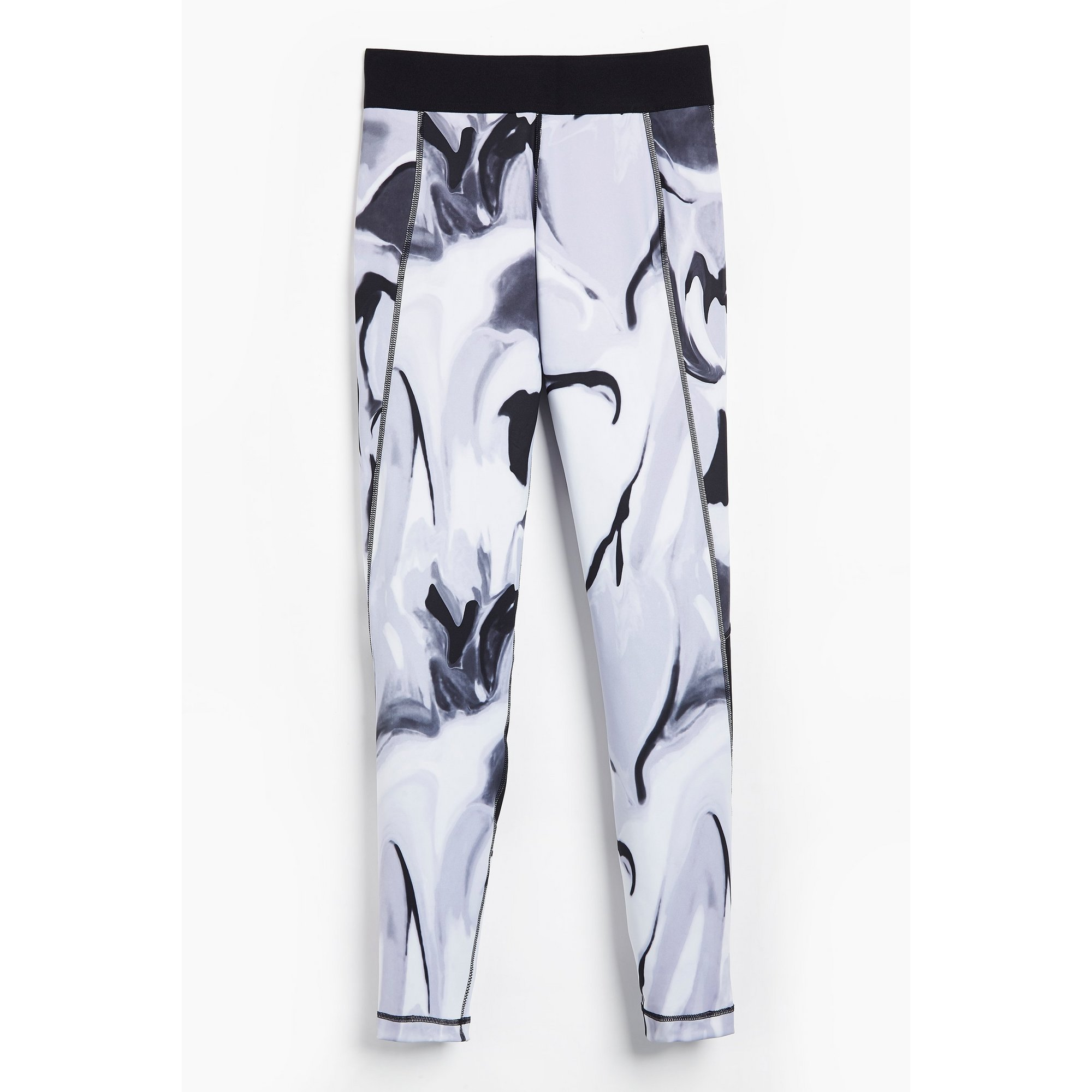Image of Girls adidas Ask A.R. AOP Dash Grey/Black Leggings