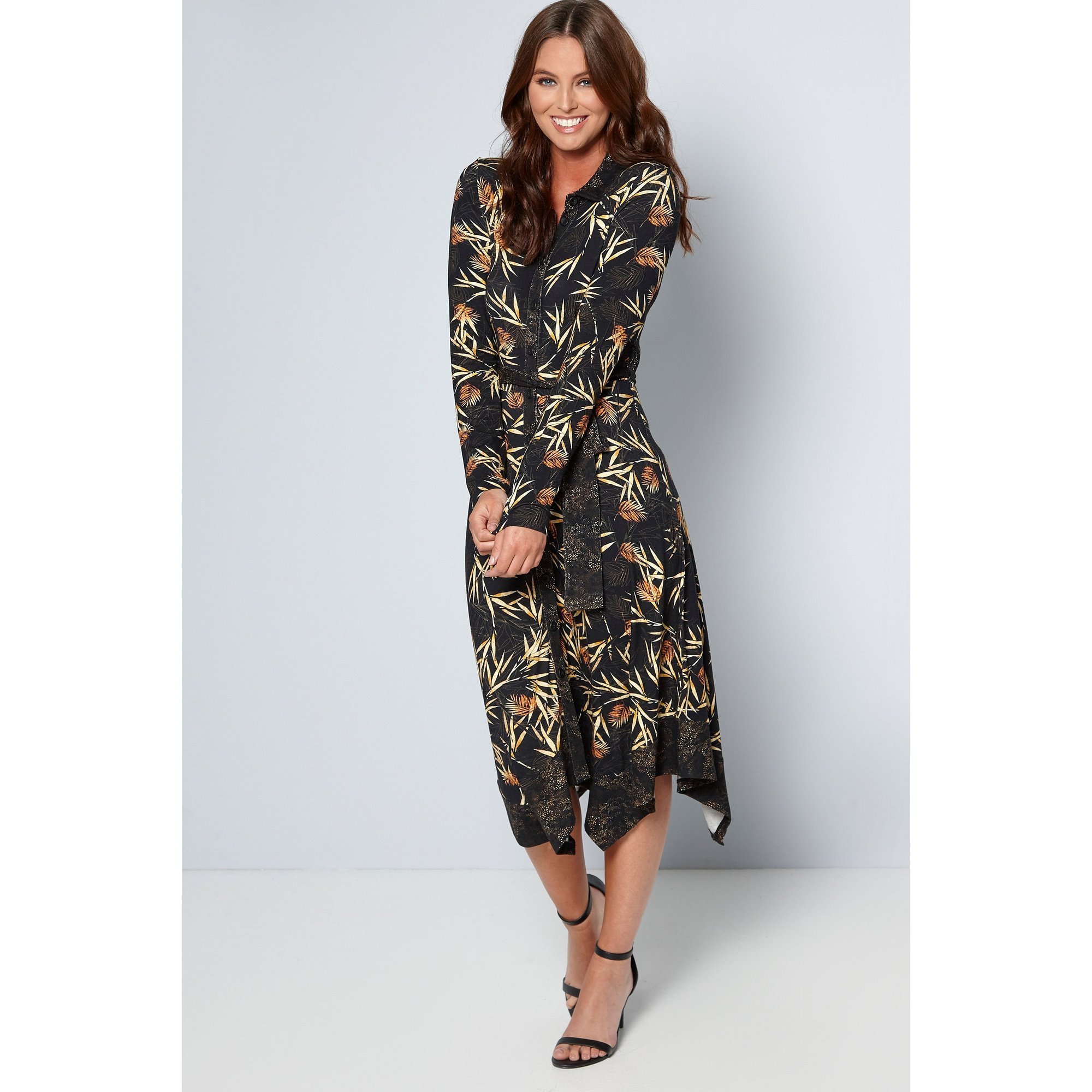 Image of Joe Browns Autumnal Palm Jersey Dress