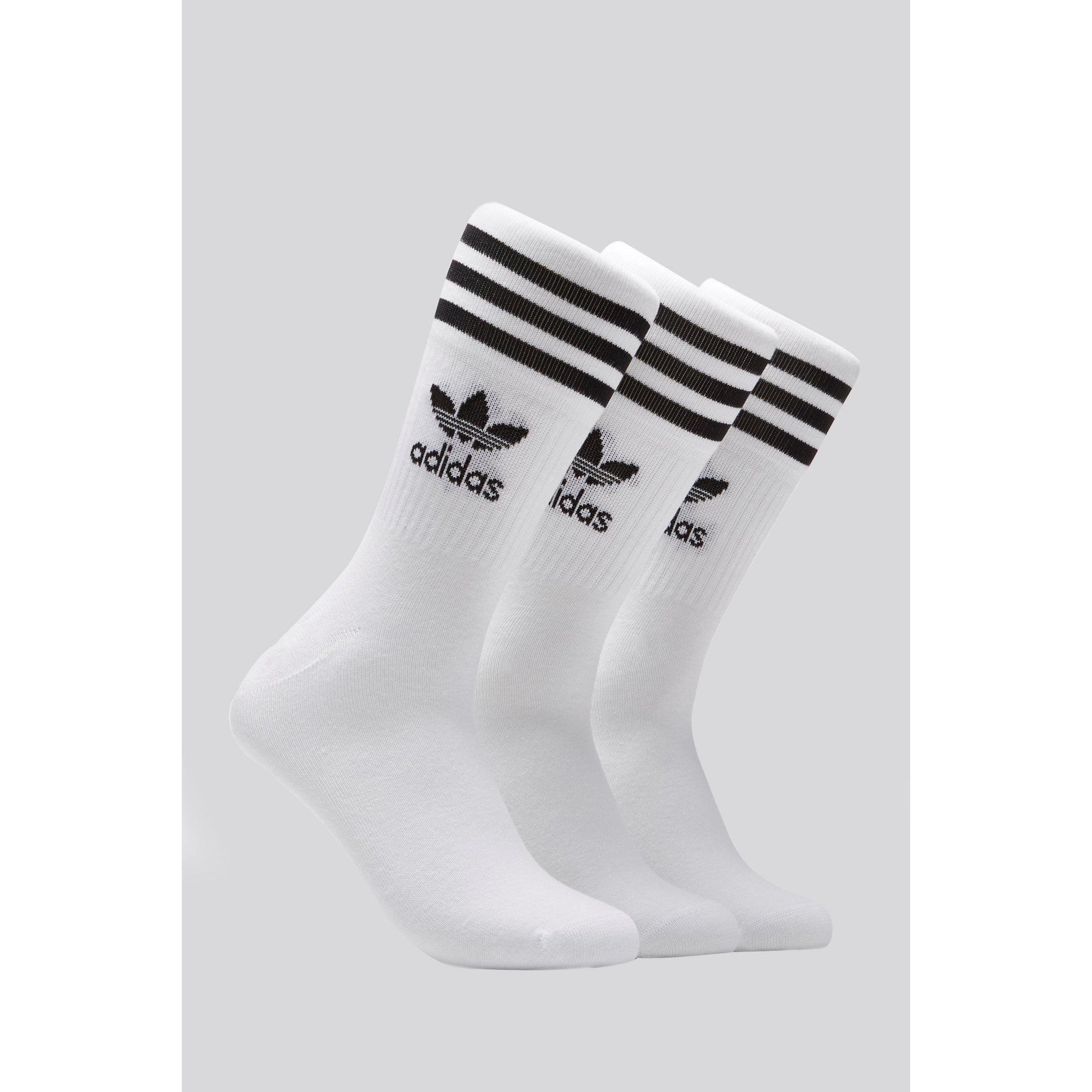 Image of adidas Originals Pack of 3 Mid Crew Socks