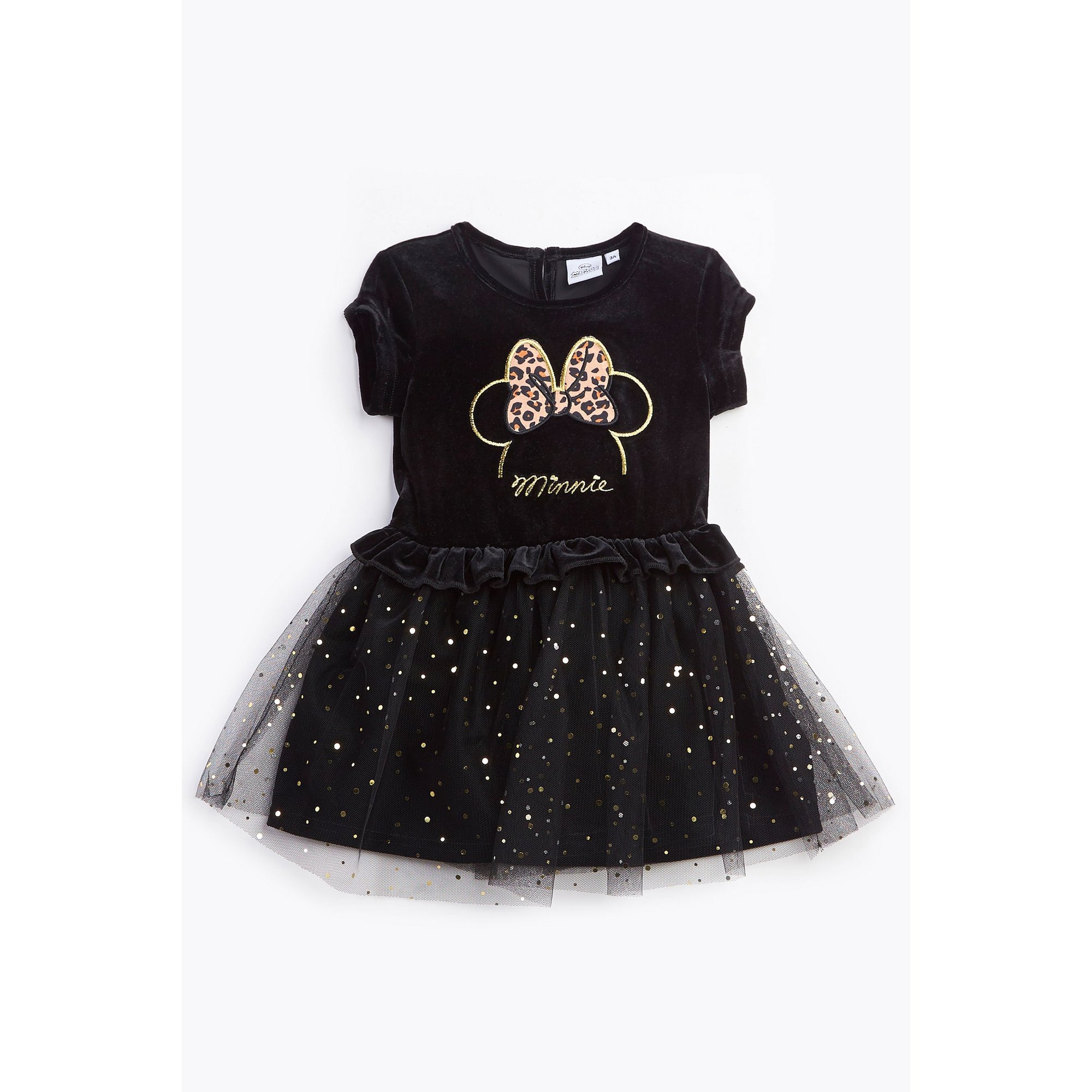 Image of Girls Minnie Mouse Glitter Tulle Dress