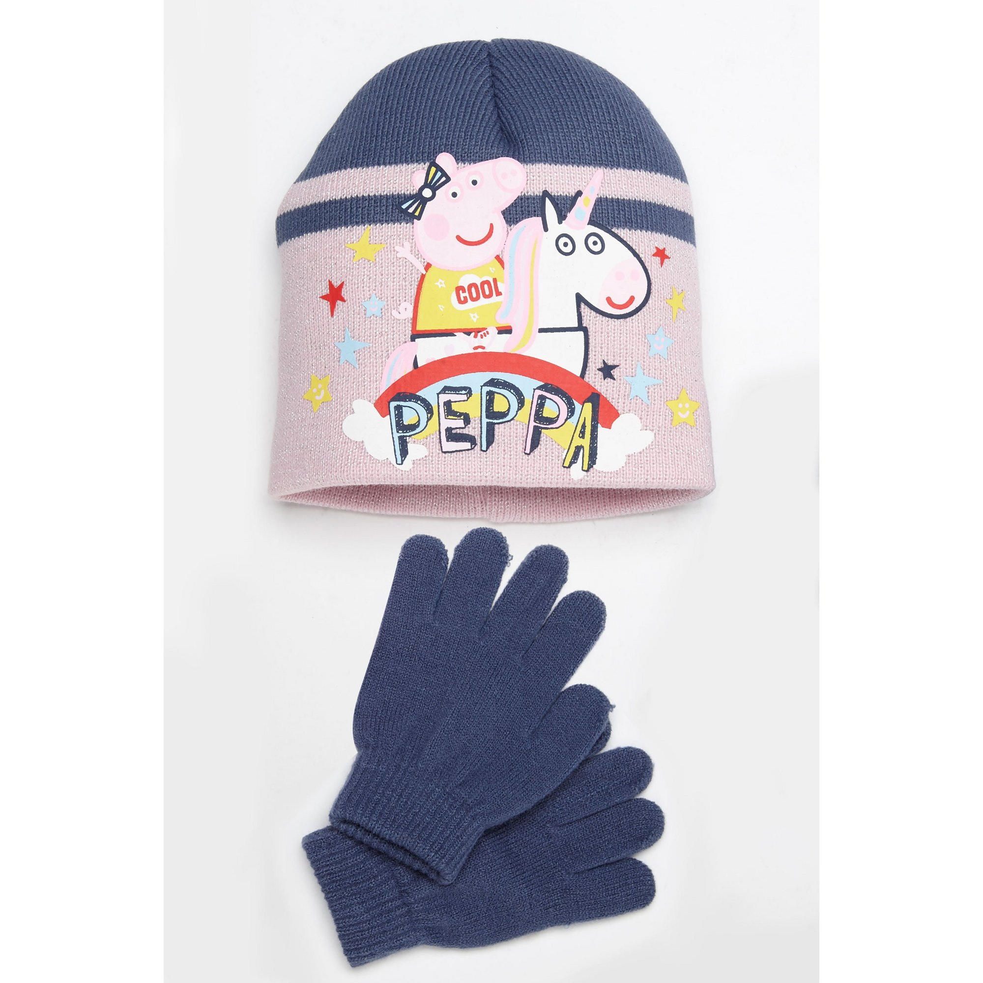 Image of Girls Peppa Pig Hat and Gloves Set
