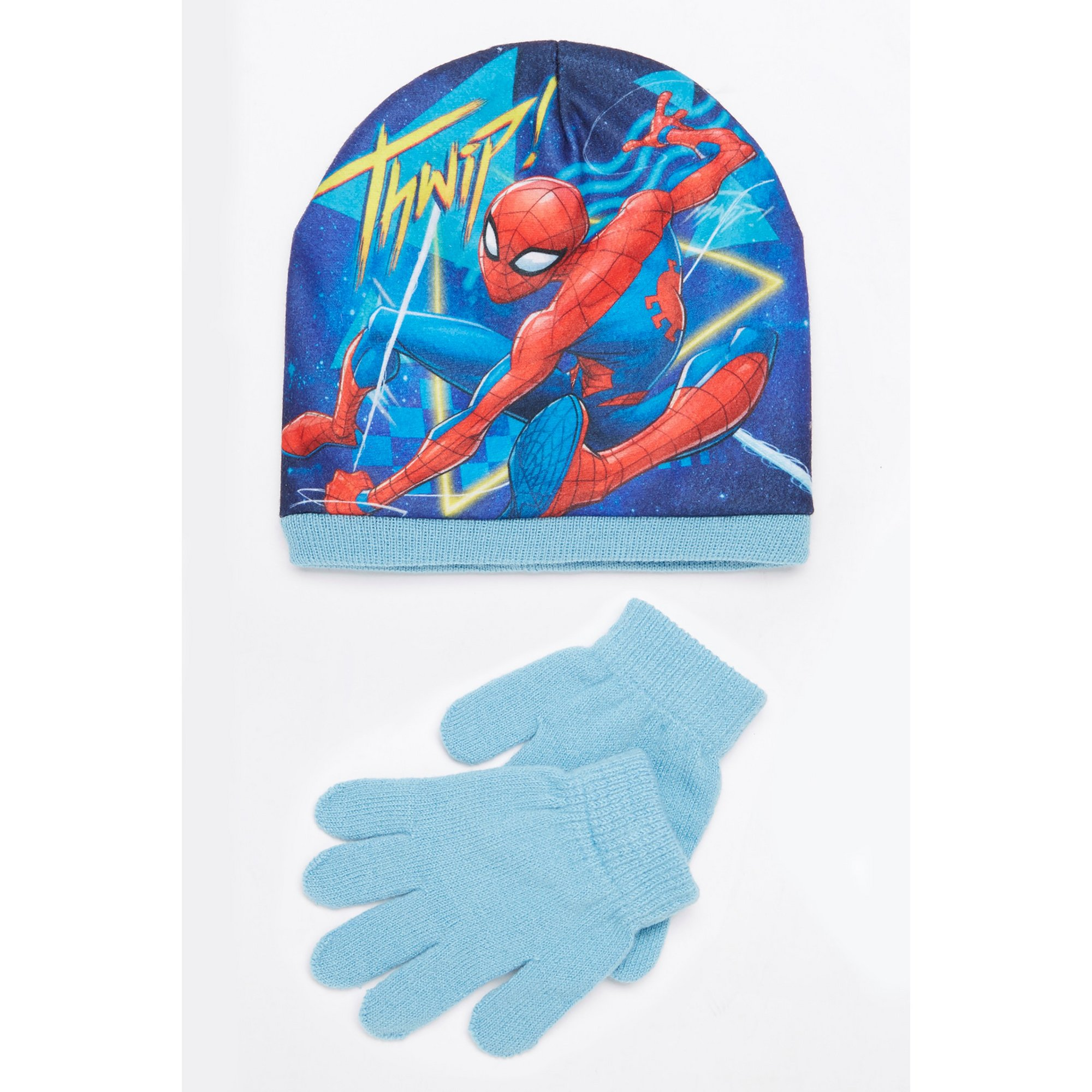 Image of Boys Spider-Man Hat and Gloves Set