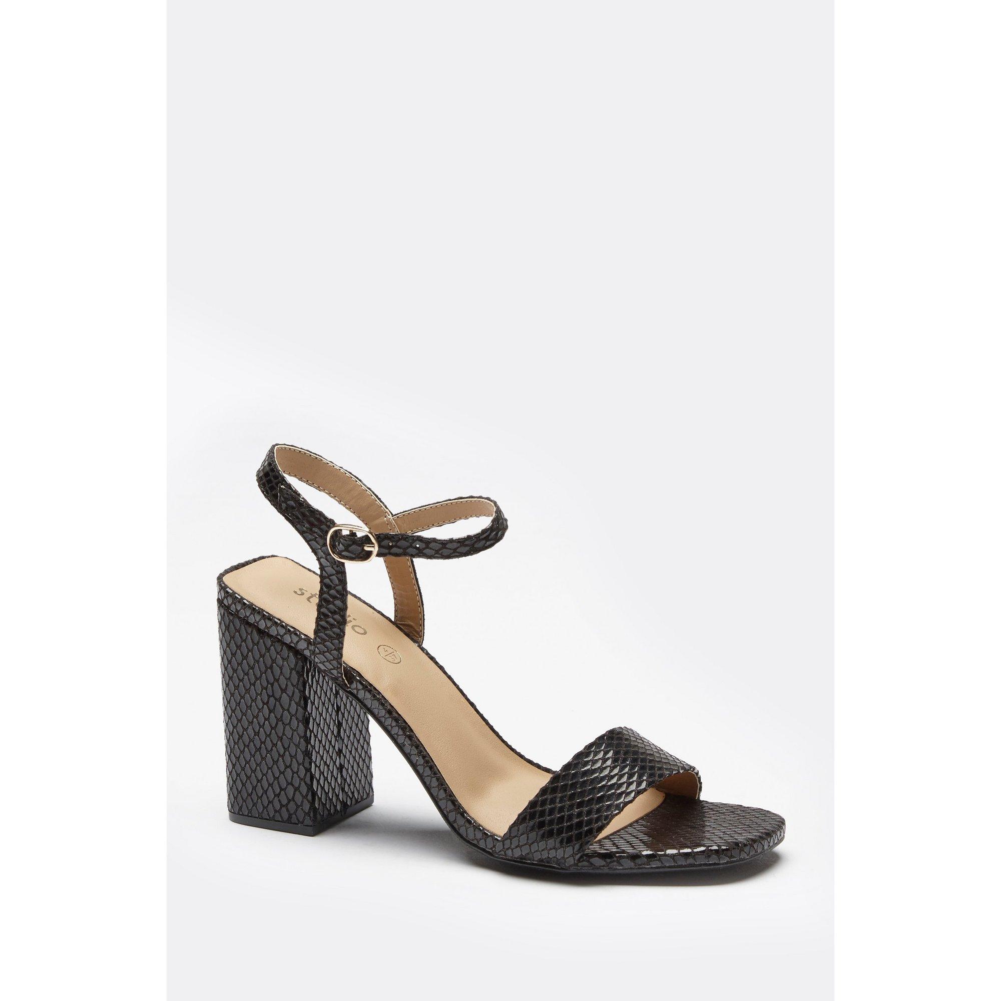 Image of 2 Part Block Heel Sandals