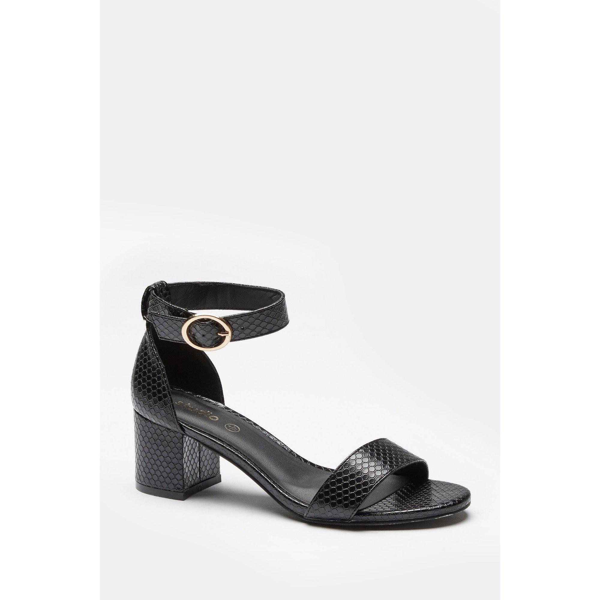 Image of 2-Part Block Heel Sandals