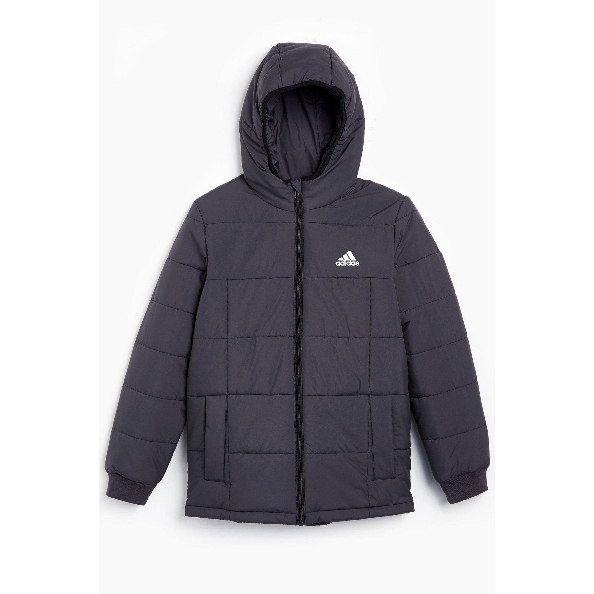 Image of Boys adidas Midweight Padded Black Jacket