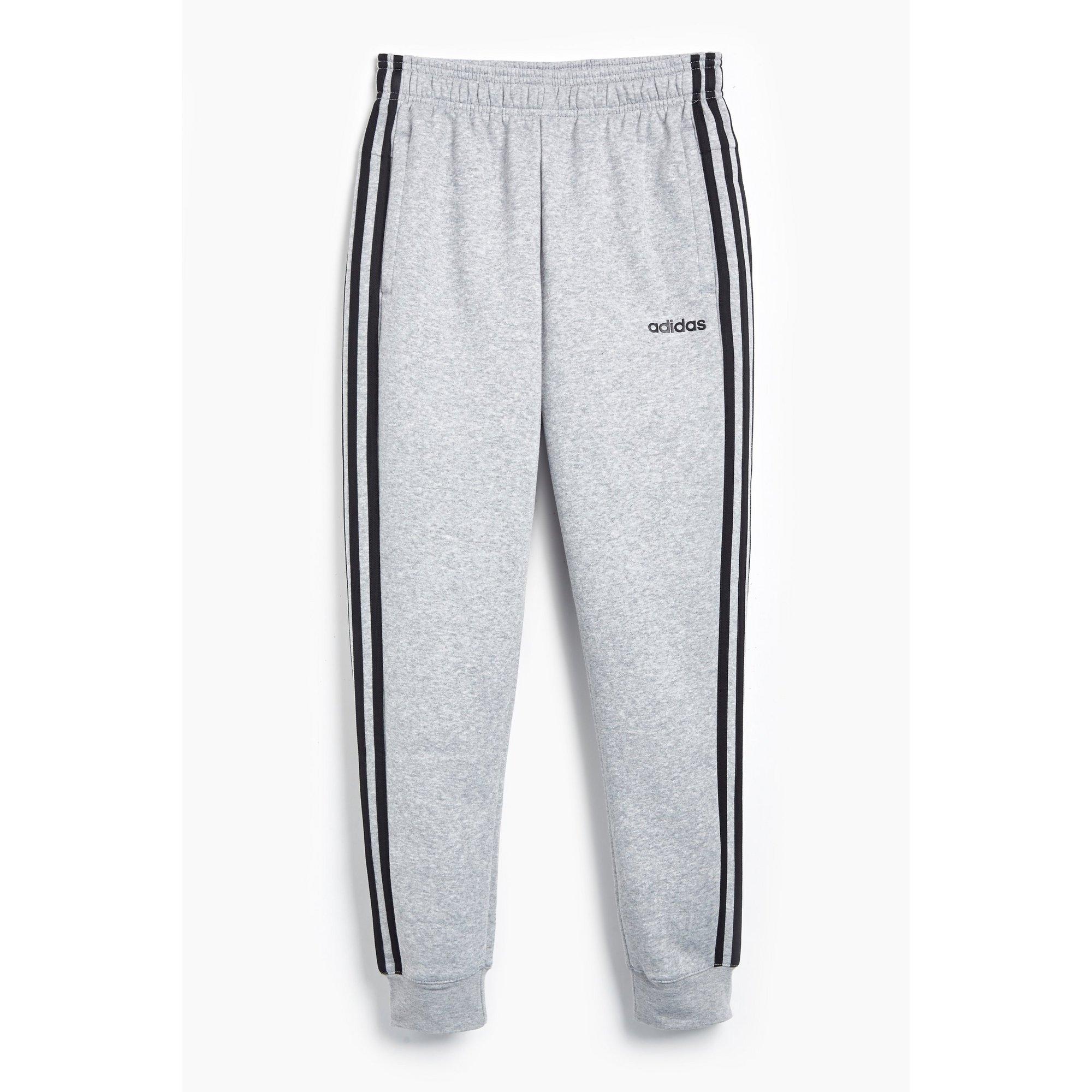 Image of Boys adidas Essentials 3-Stripes Grey Joggers