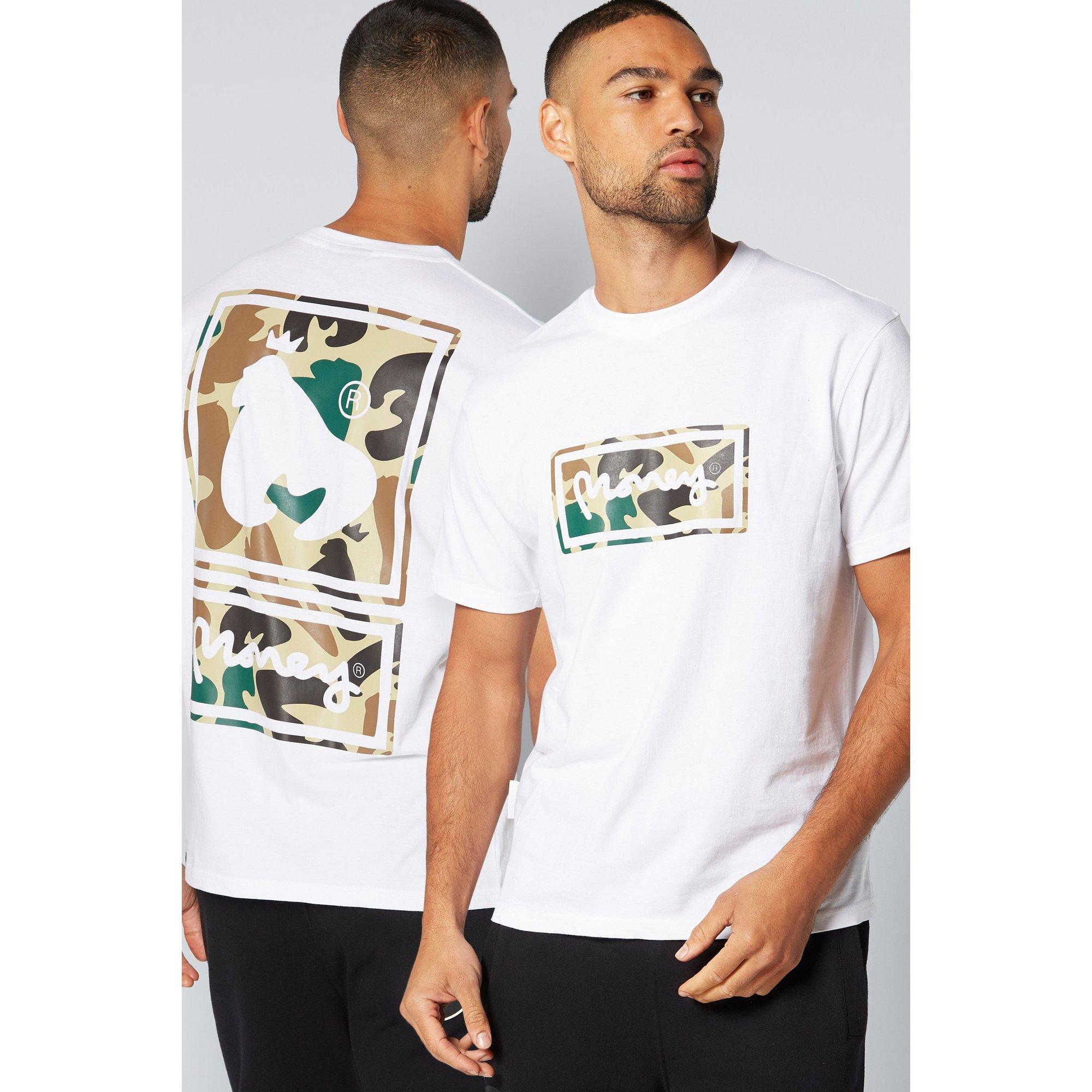 Image of Money Back Print Camo White T-Shirt