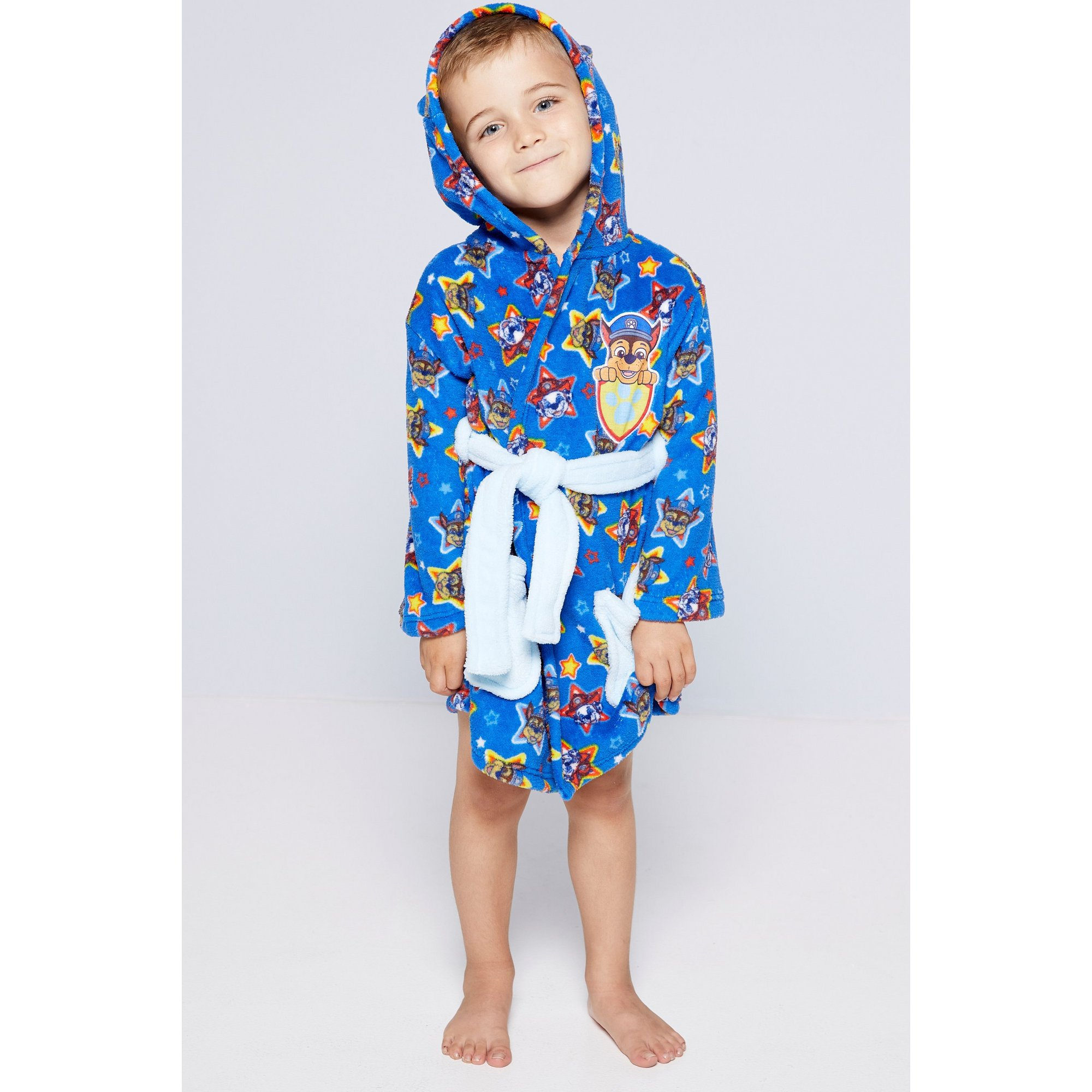 Image of Boys Paw Patrol Fleece Hooded Robe