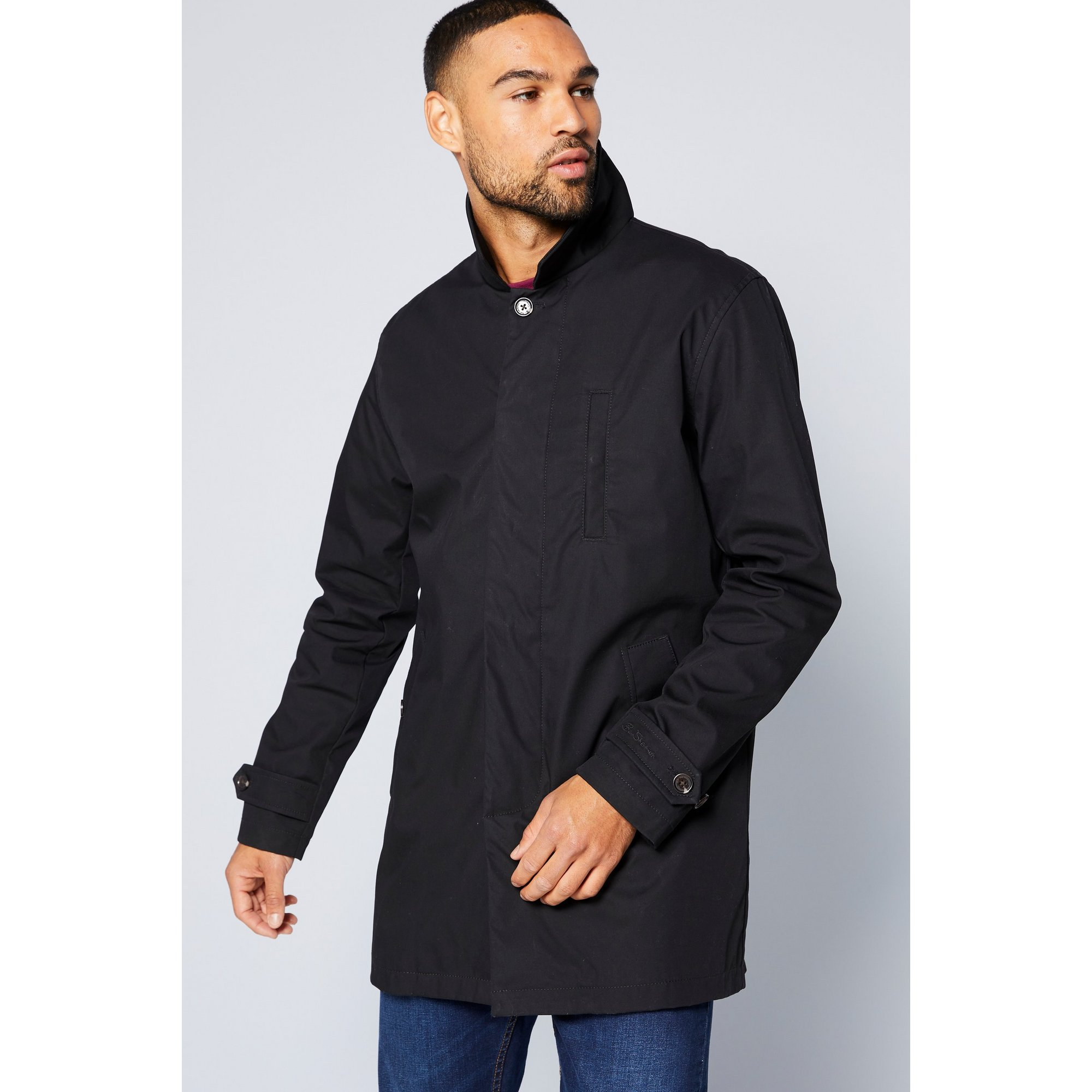 Image of Ben Sherman Black Mac Jacket