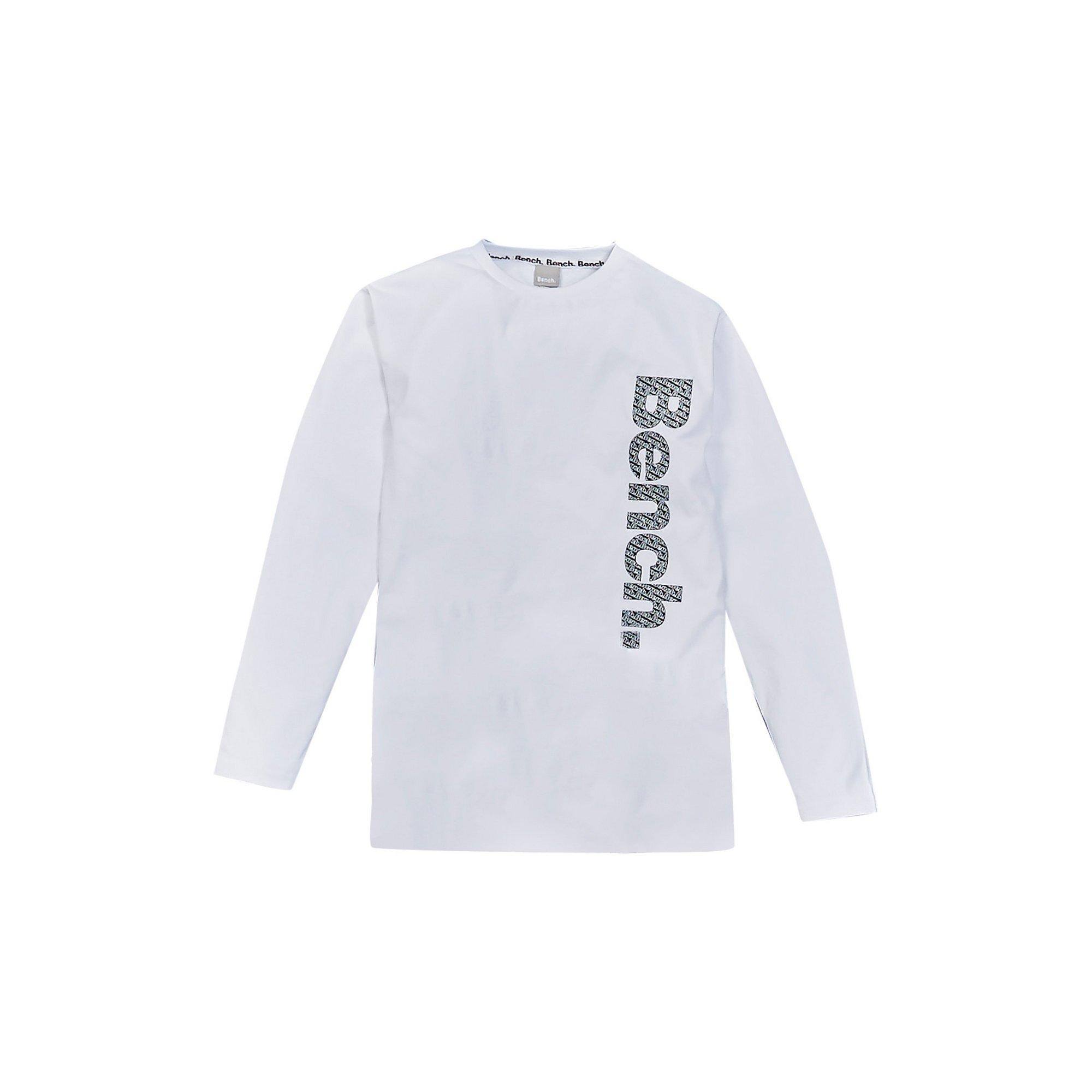 Image of Boys Bench Long Sleeved White T-Shirt