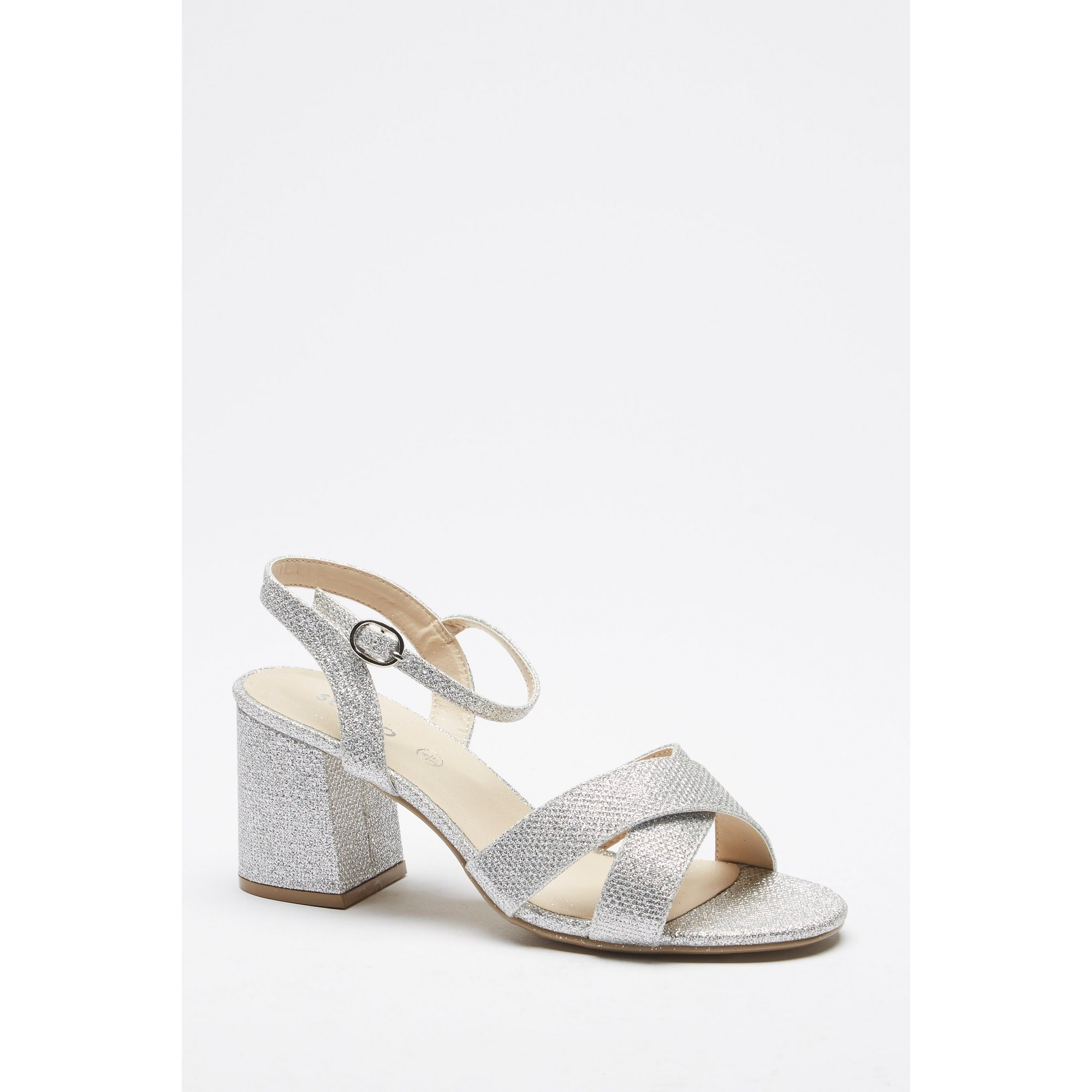 Image of 2 Part Cross Over Heeled Sandals