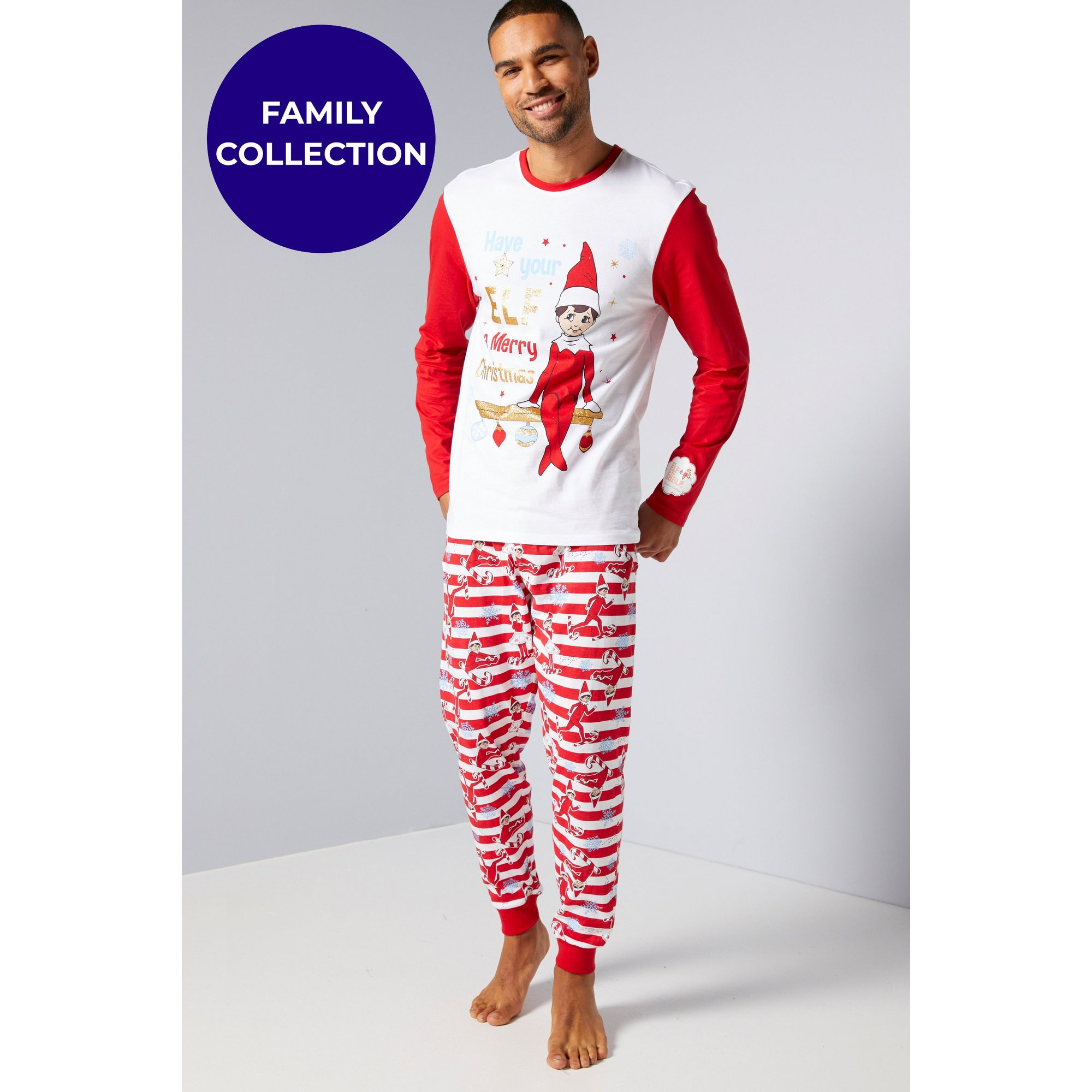 Image of Mens Family Elf On The Shelf Christmas Pyjamas