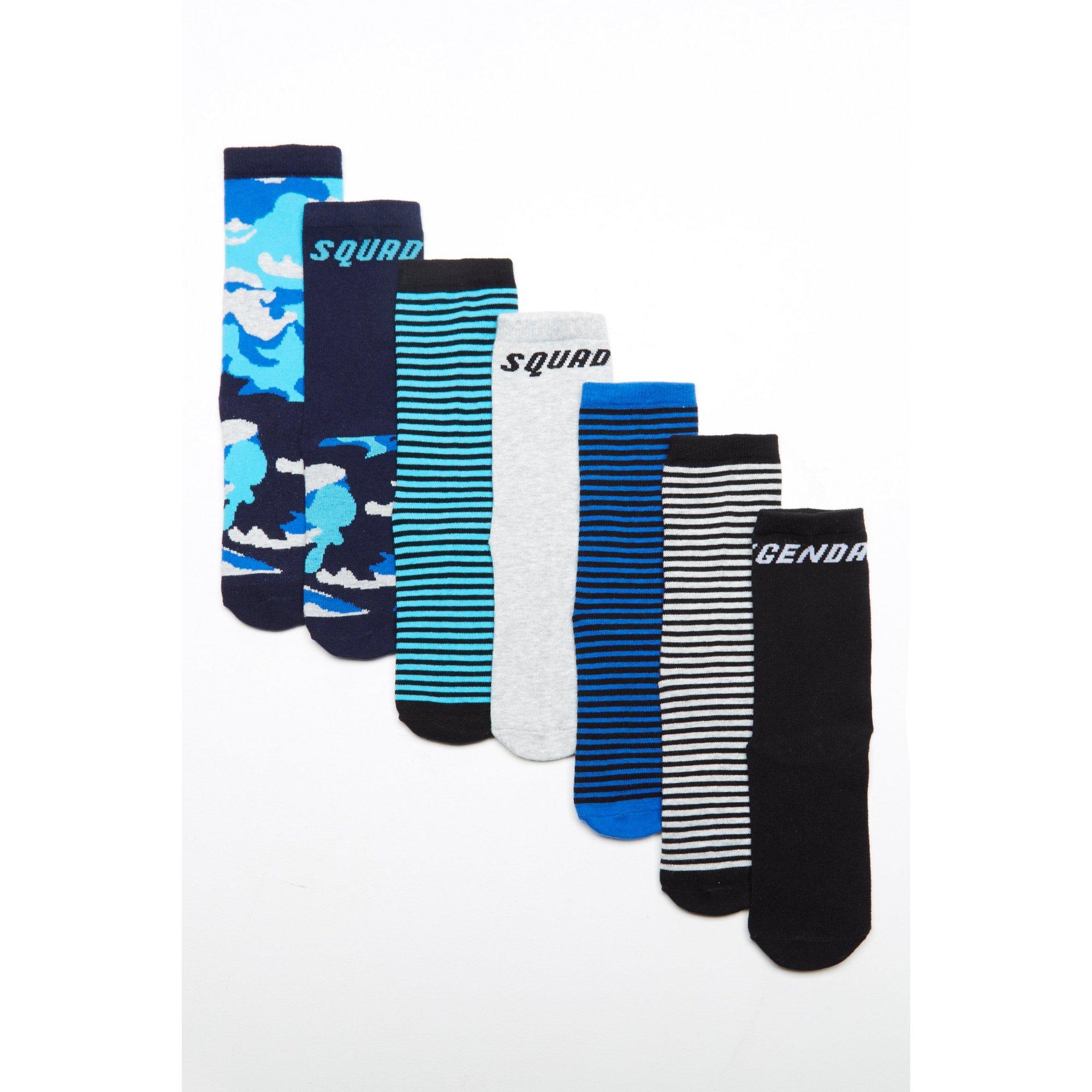 Image of Boys Pack of 7 Legendary Squad Socks