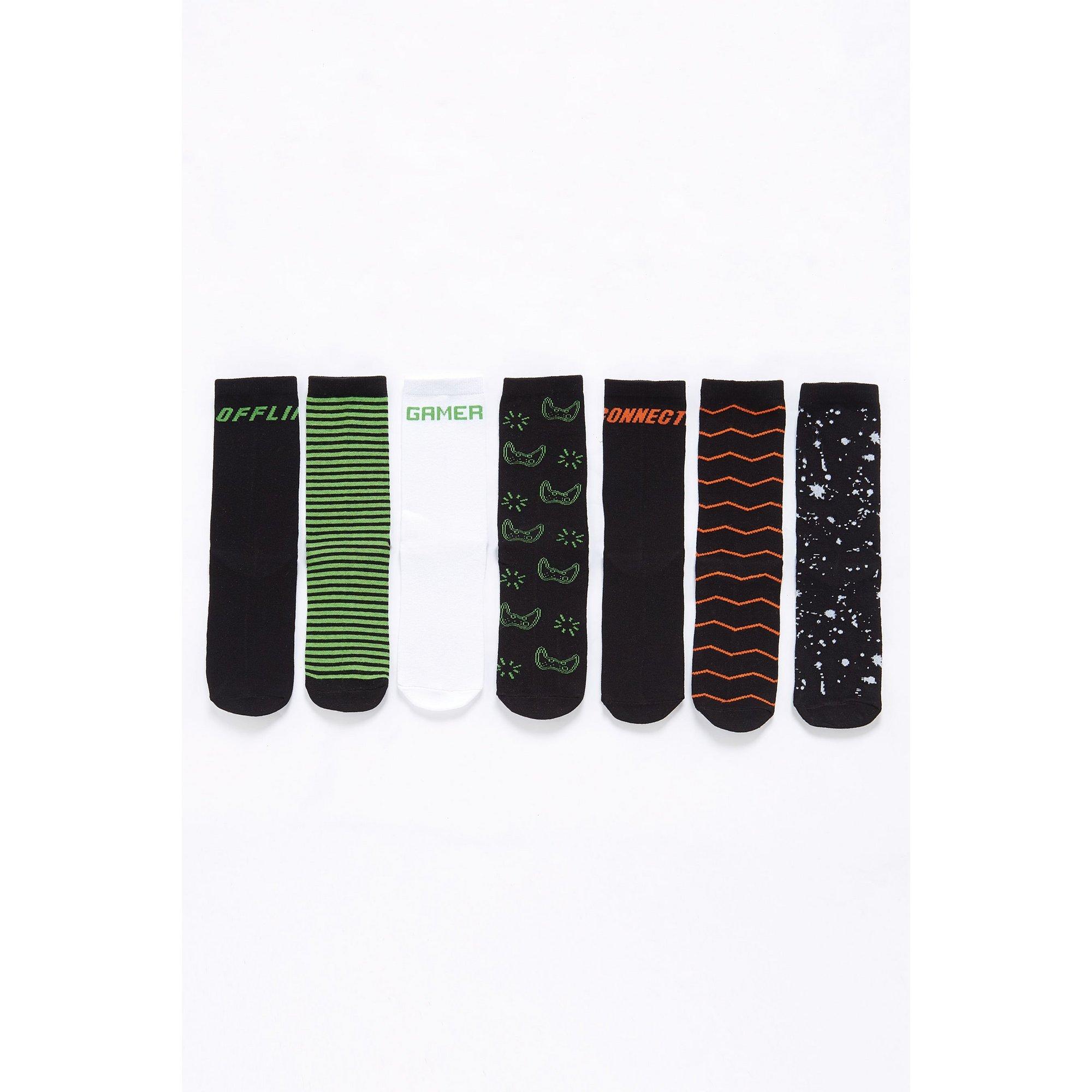 Image of Boys Pack of 7 Gamer Socks