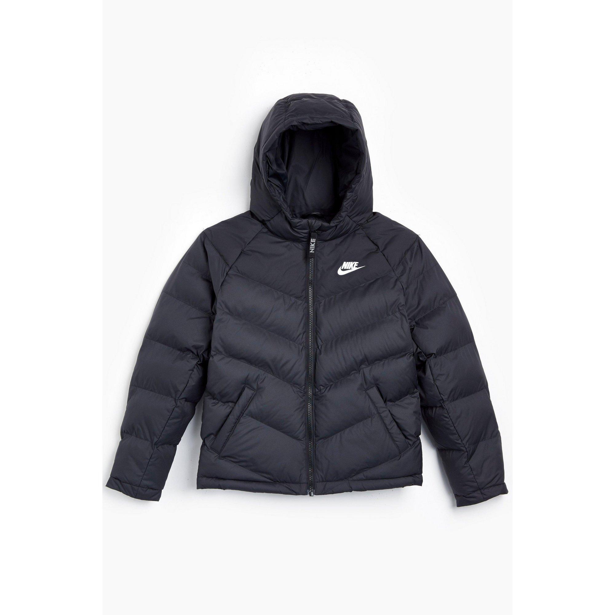 Image of Boys Nike NSW Synthetic Fill Black Jacket