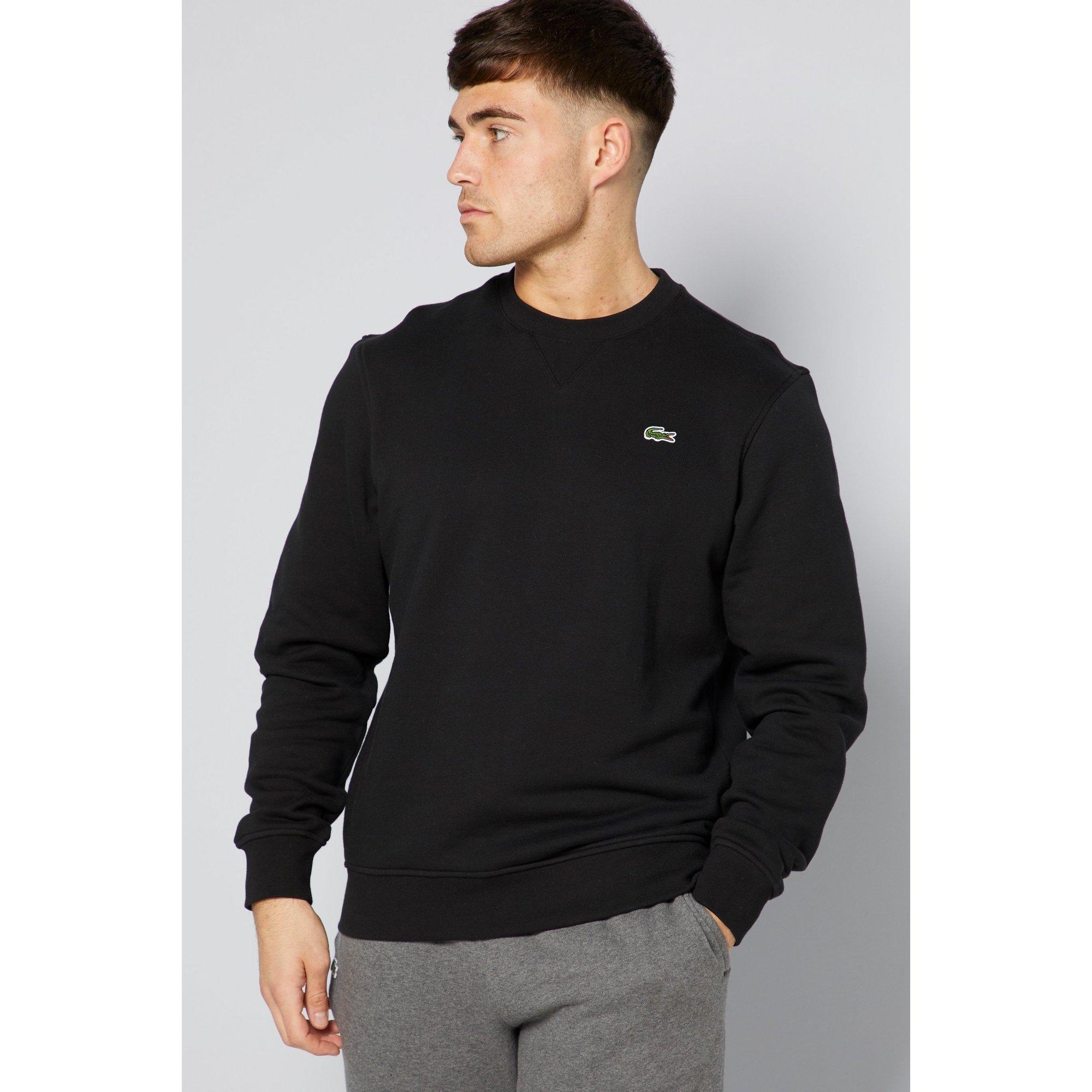 Image of Lacoste Basic Crew Black Sweatshirt