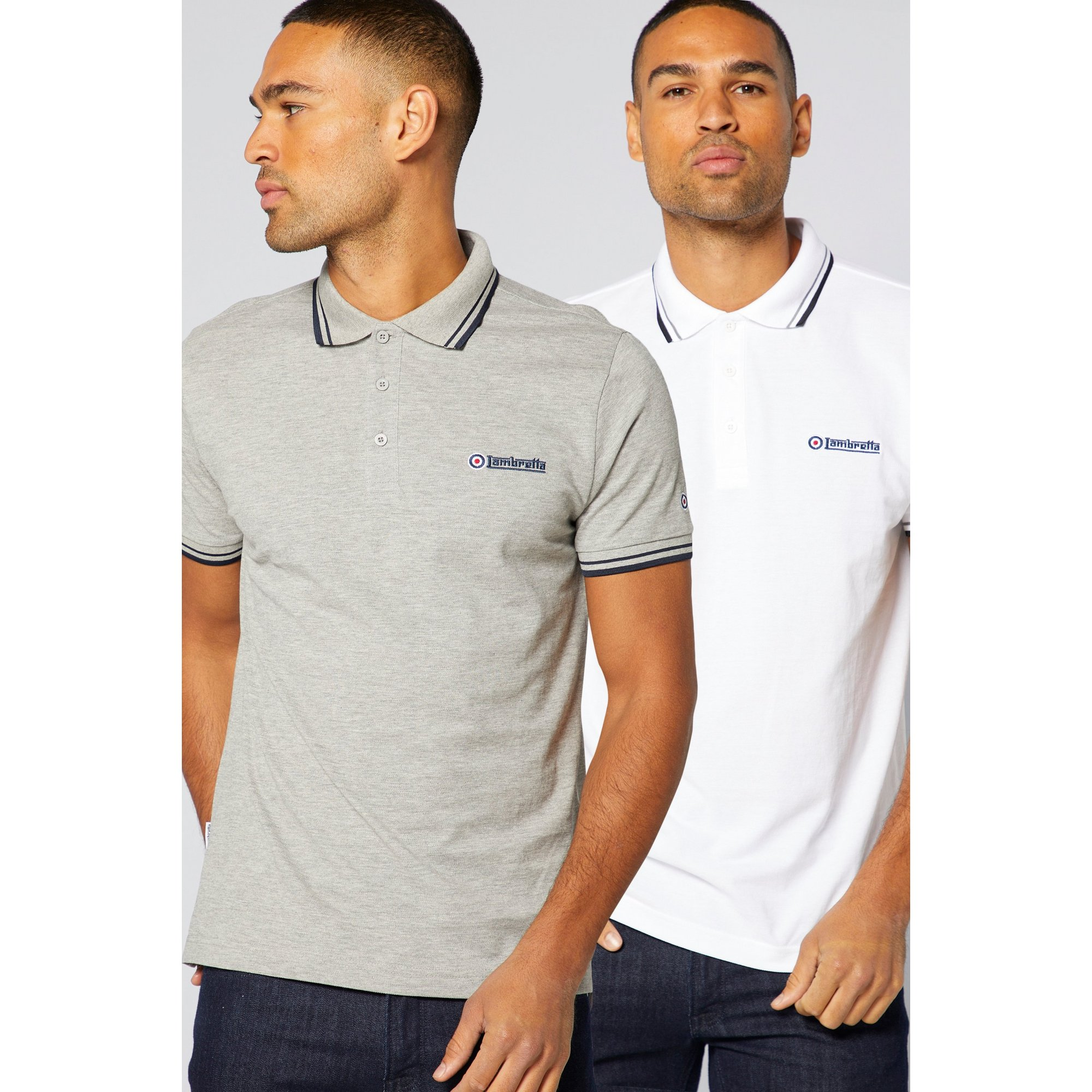 Image of Lambretta Pack of 2 Polo Shirts
