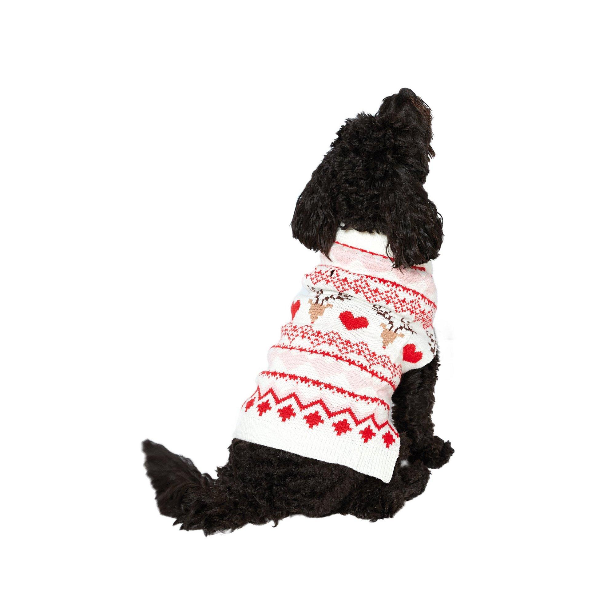 Image of Dogs Mini Me Fairisle Cream Jumper