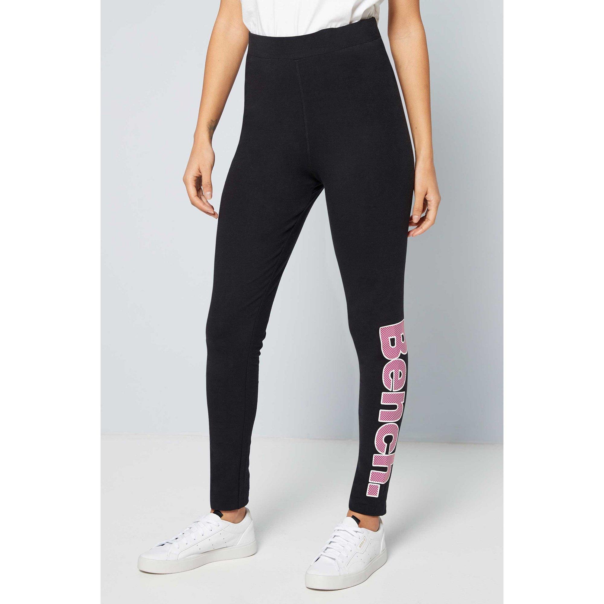Image of Bench Black/Pink Logo Leggings